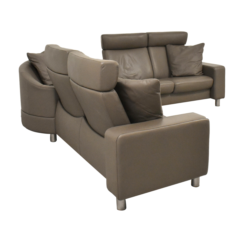 Ekornes Ekornes Stressless Three Piece Reclining Sectional Sofa Sofas