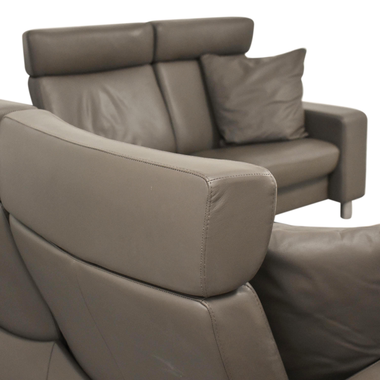 Ekornes Ekornes Stressless Three Piece Reclining Sectional Sofa ma
