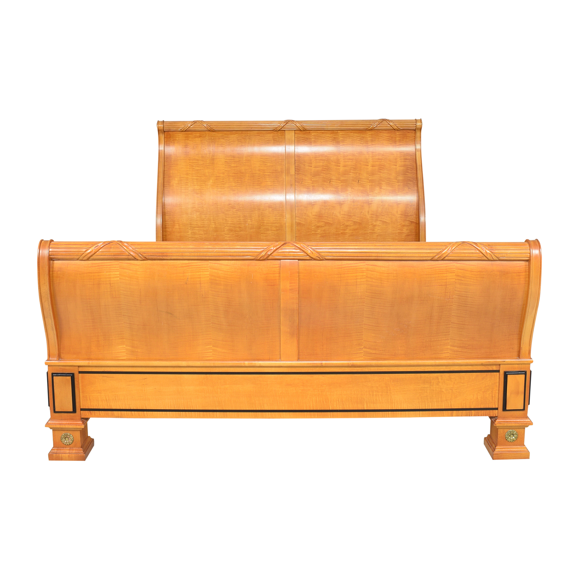 shop Thomasville Grand Classics Biedermeier-Style Queen Sleigh Bed Thomasville Bed Frames