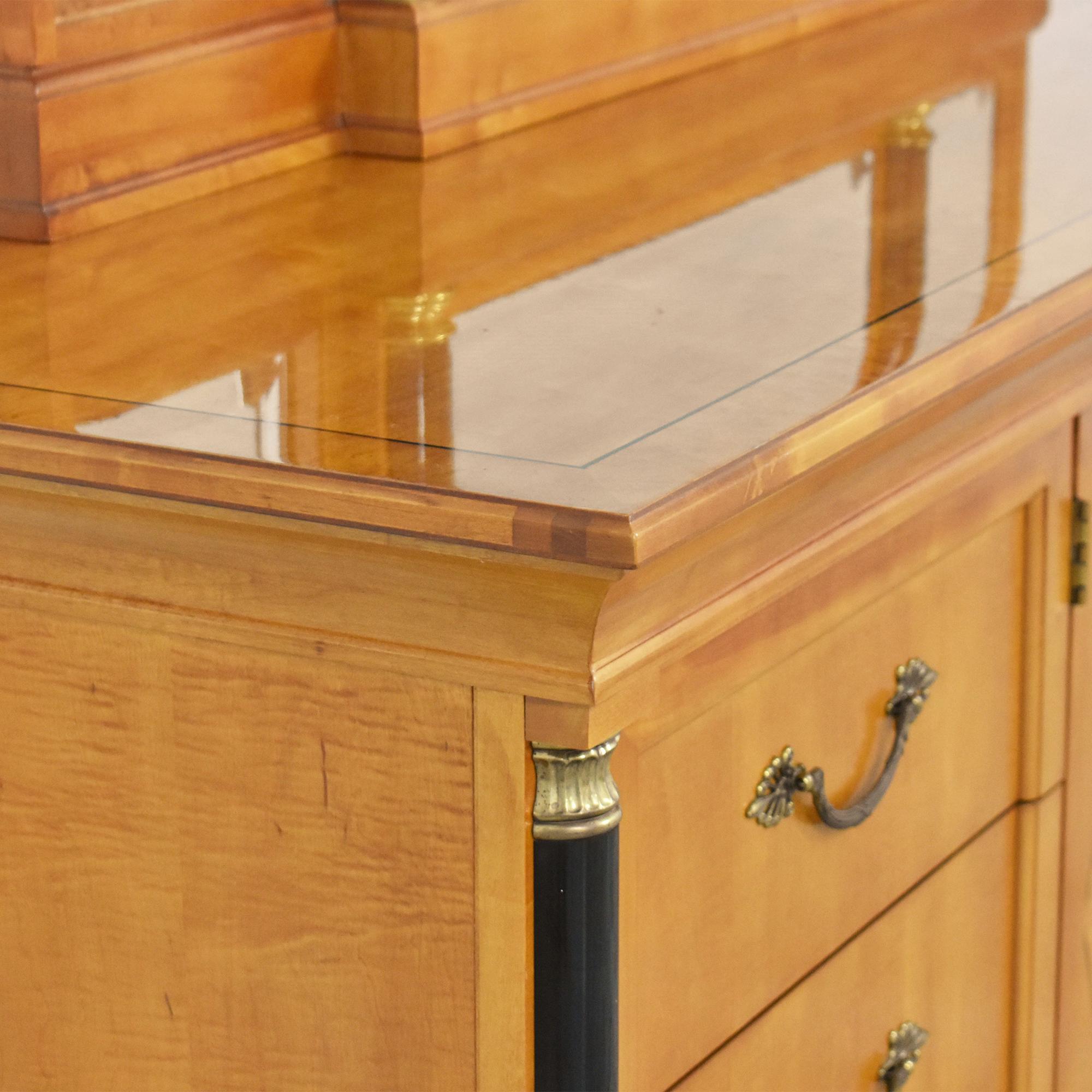 Thomasville Grand Classics Biedermeier Triple Dresser with Mirror / Storage