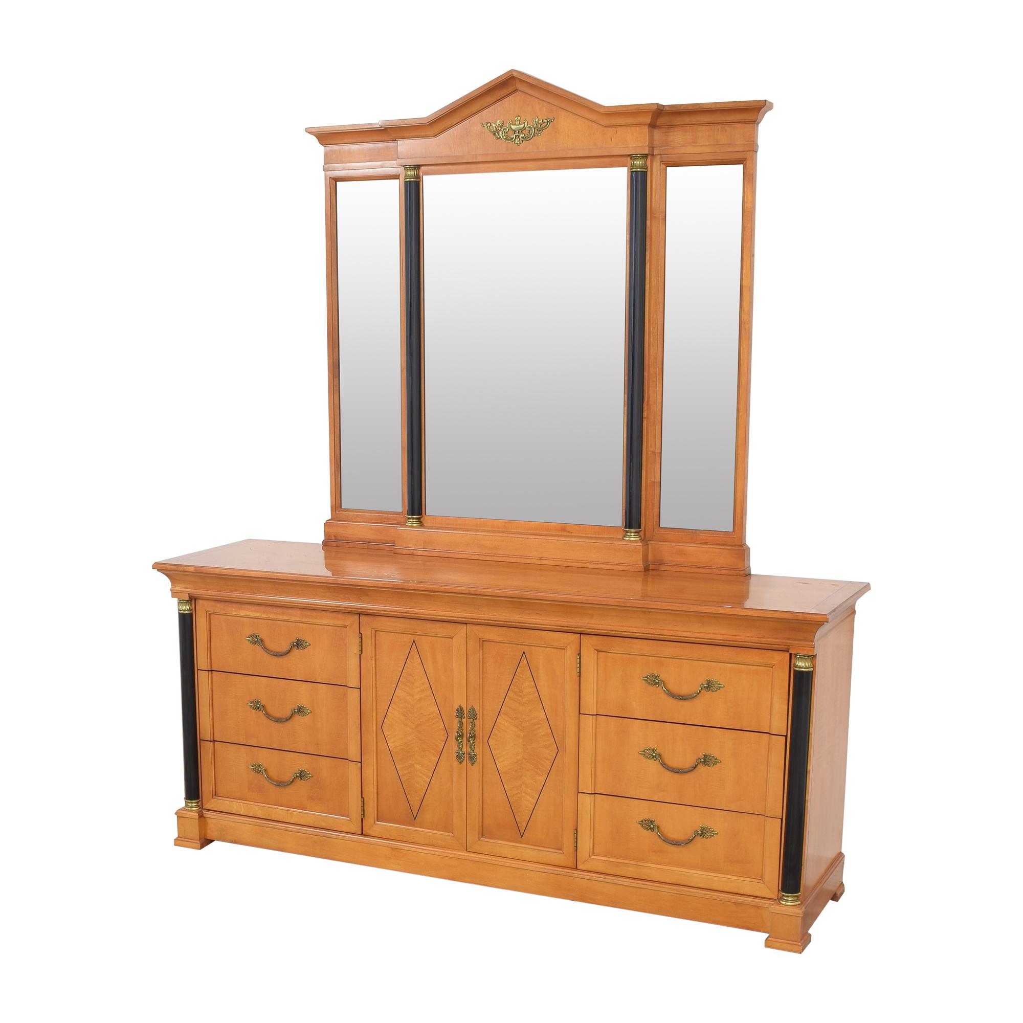 Thomasville Thomasville Grand Classics Biedermeier Triple Dresser with Mirror on sale