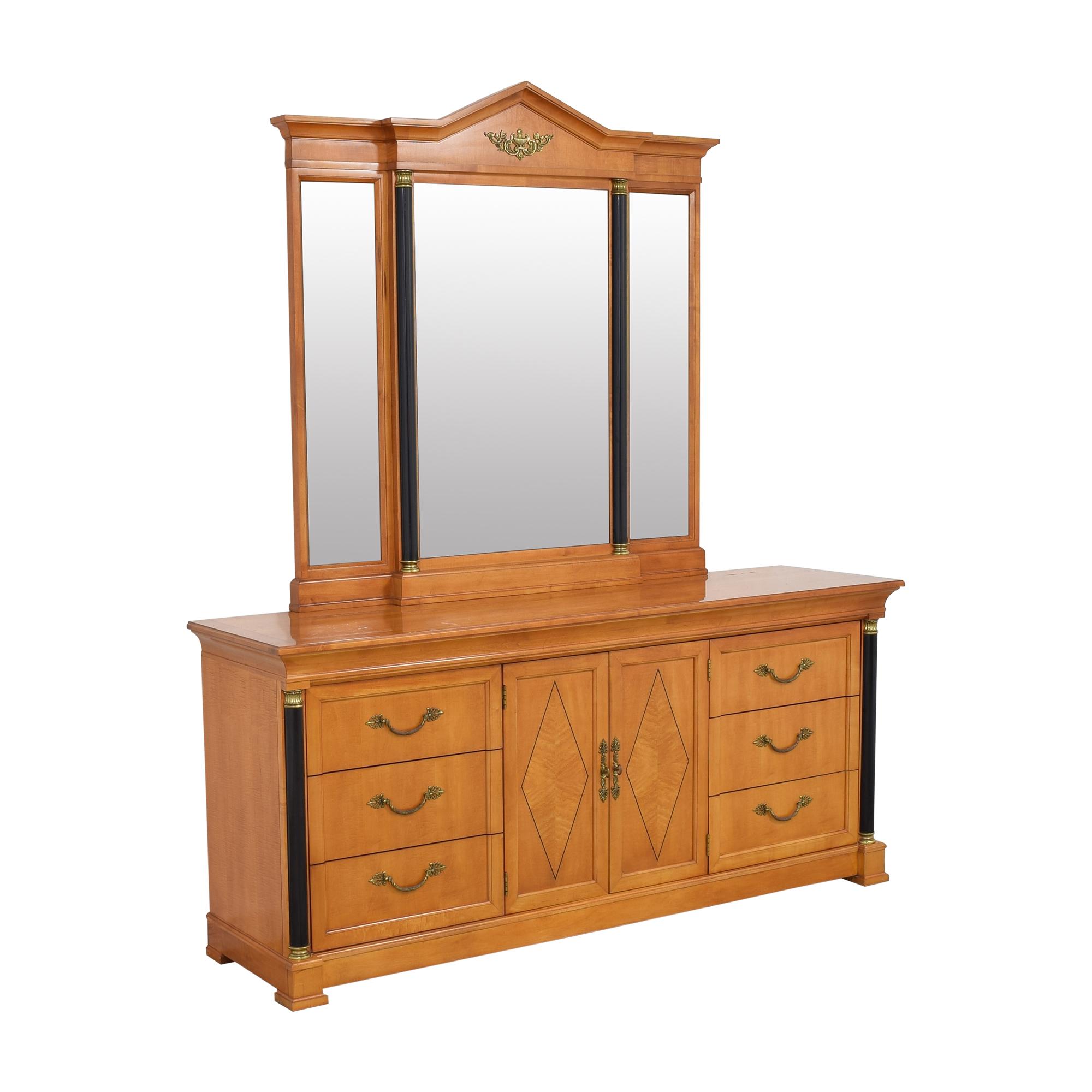 shop Thomasville Grand Classics Biedermeier Triple Dresser with Mirror Thomasville Dressers
