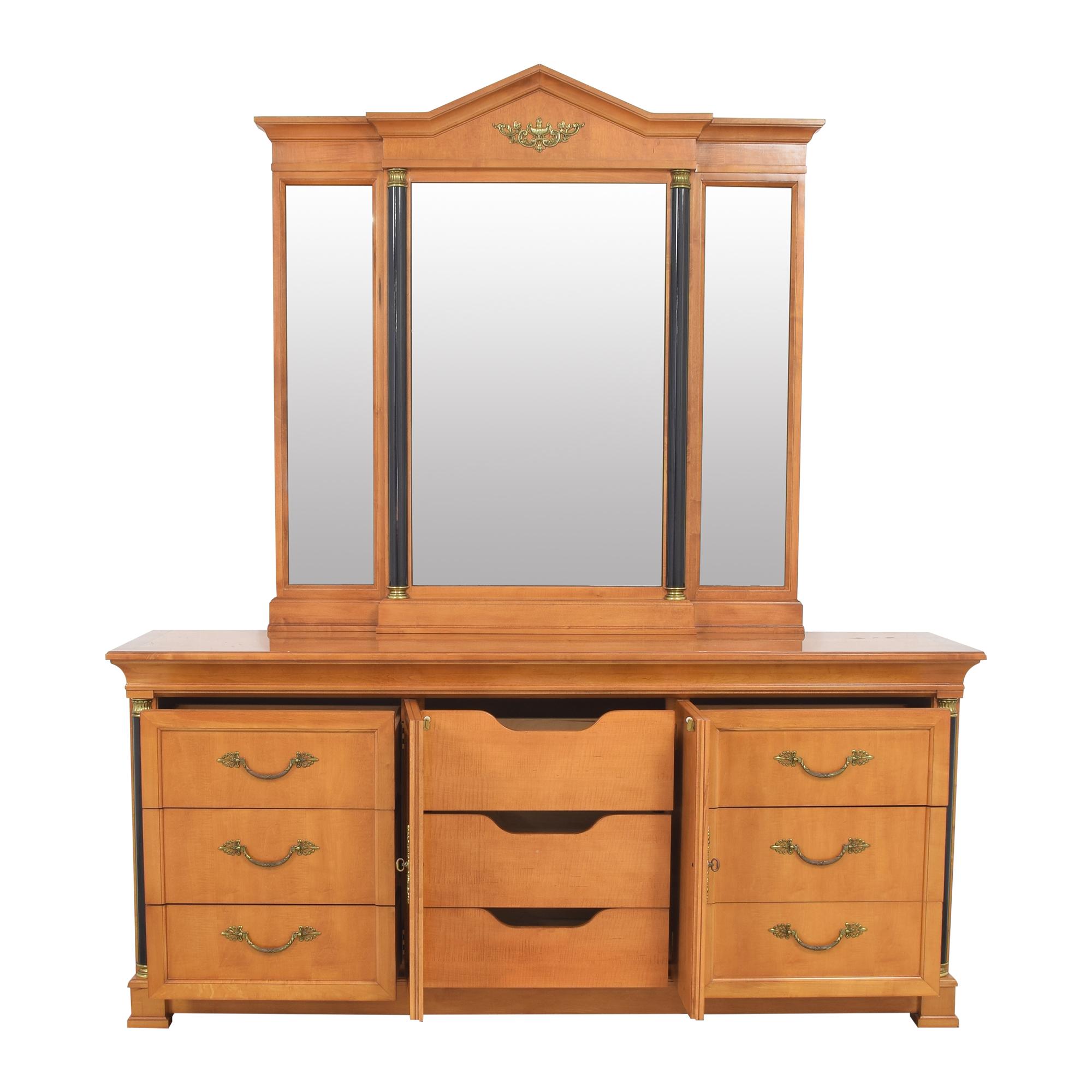 Thomasville Grand Classics Biedermeier Triple Dresser with Mirror / Dressers