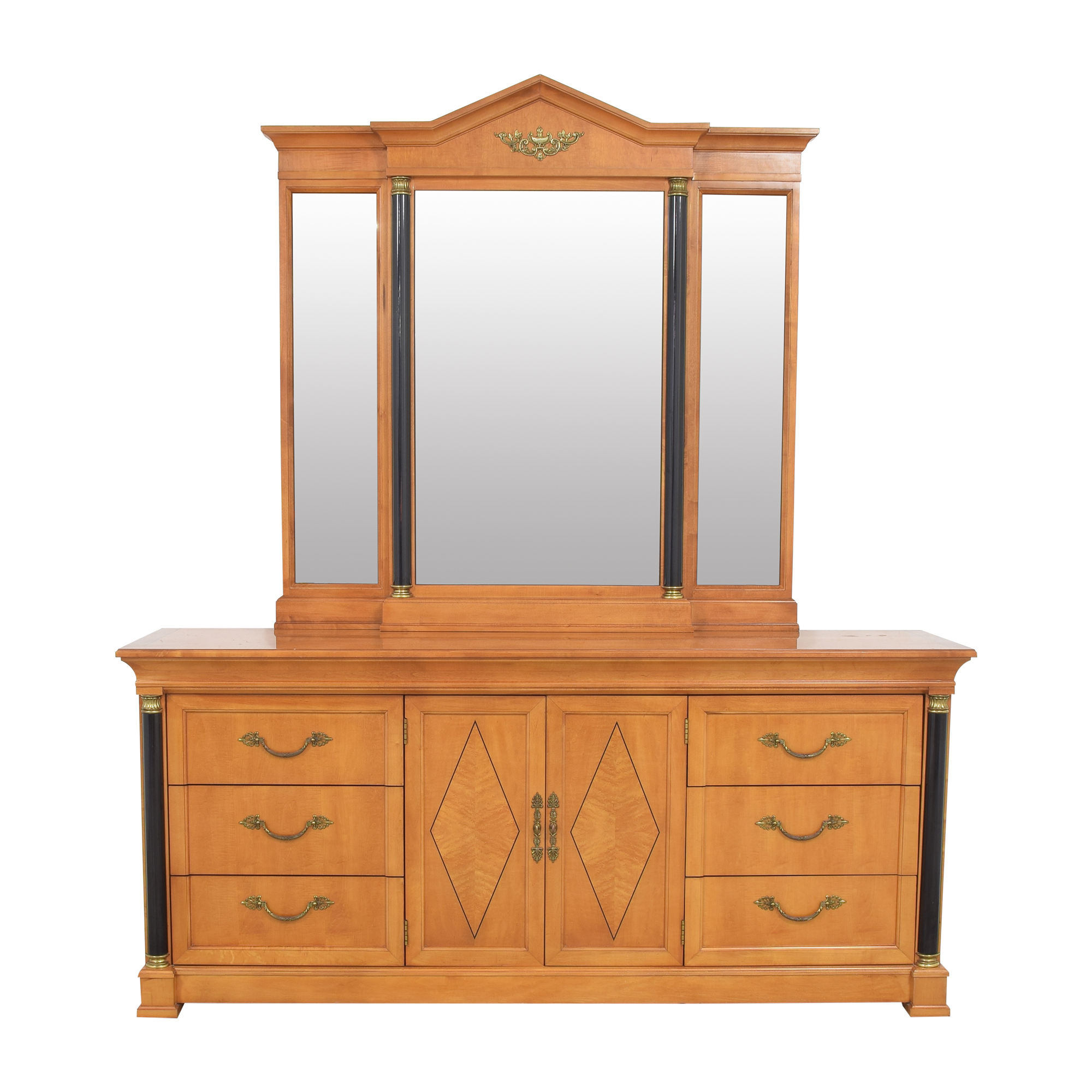 Thomasville Thomasville Grand Classics Biedermeier Triple Dresser with Mirror nj