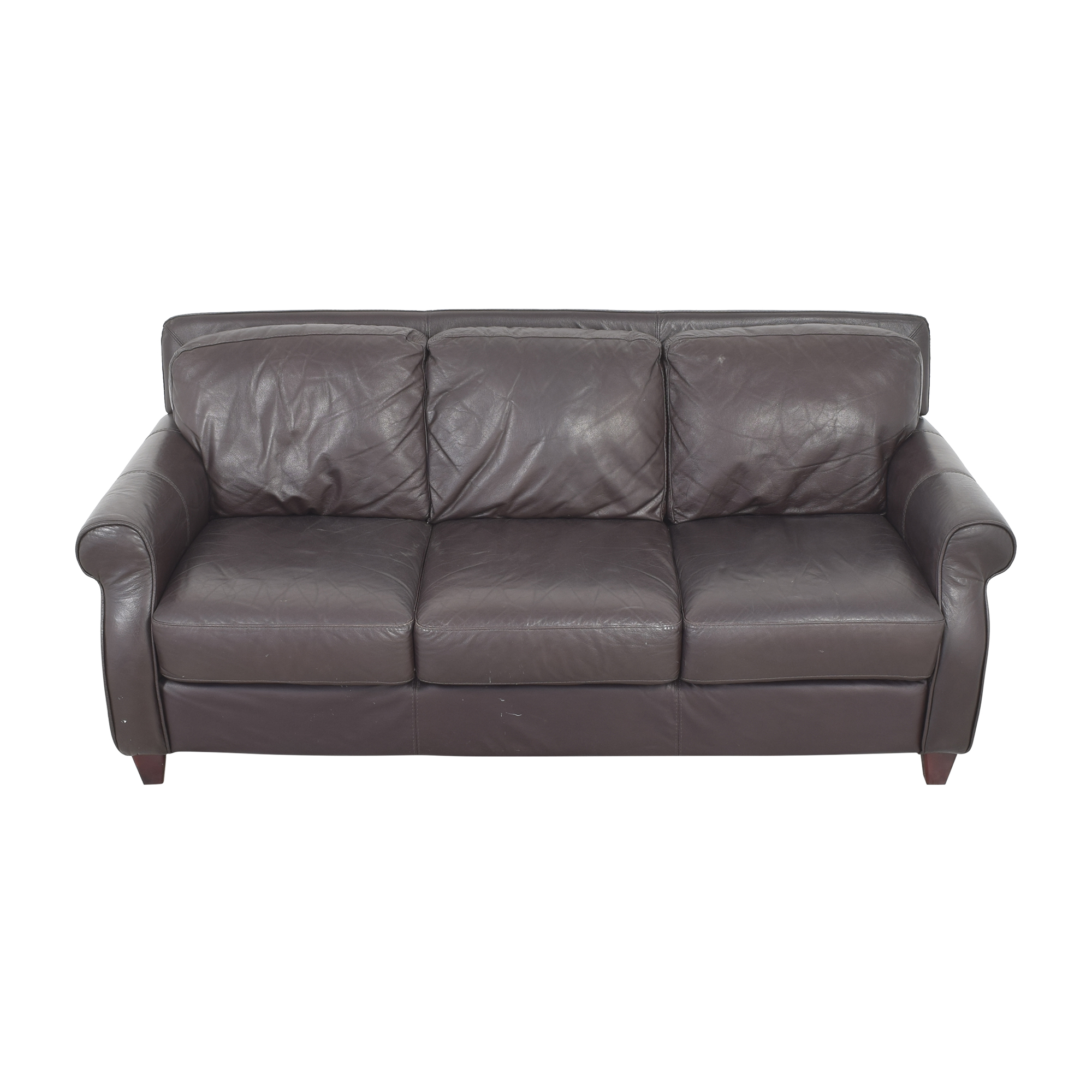 Raymour & Flanigan Raymour & Flanigan Roll Arm Sofa brown
