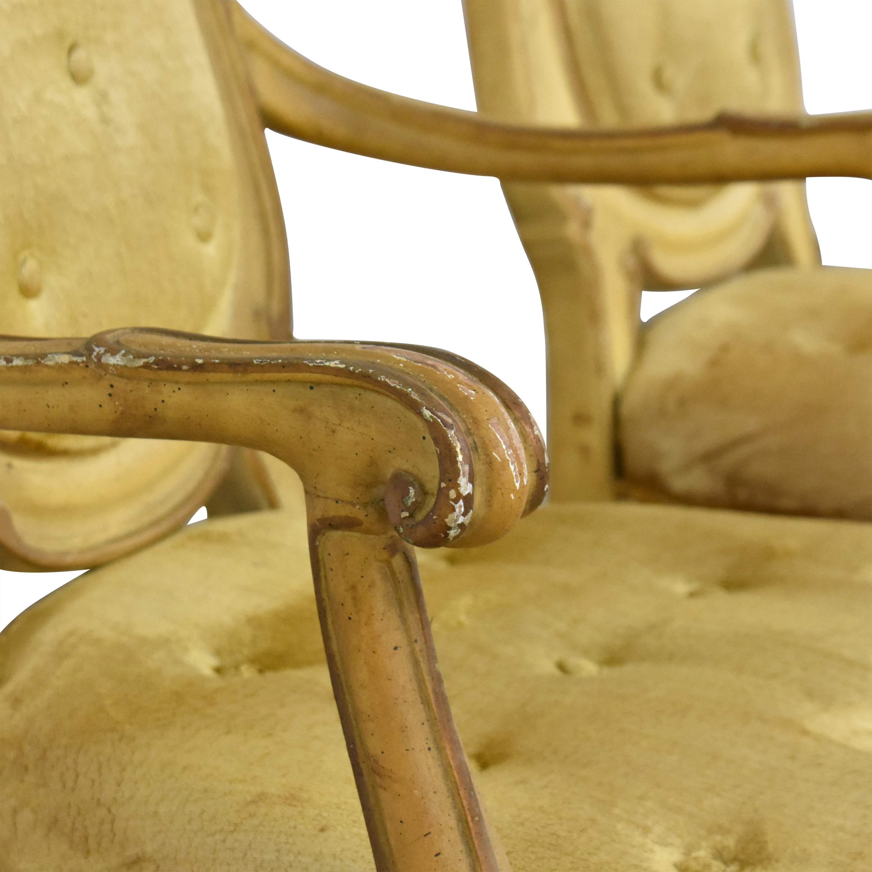Vintage Carved High Back Dining Chairs ct