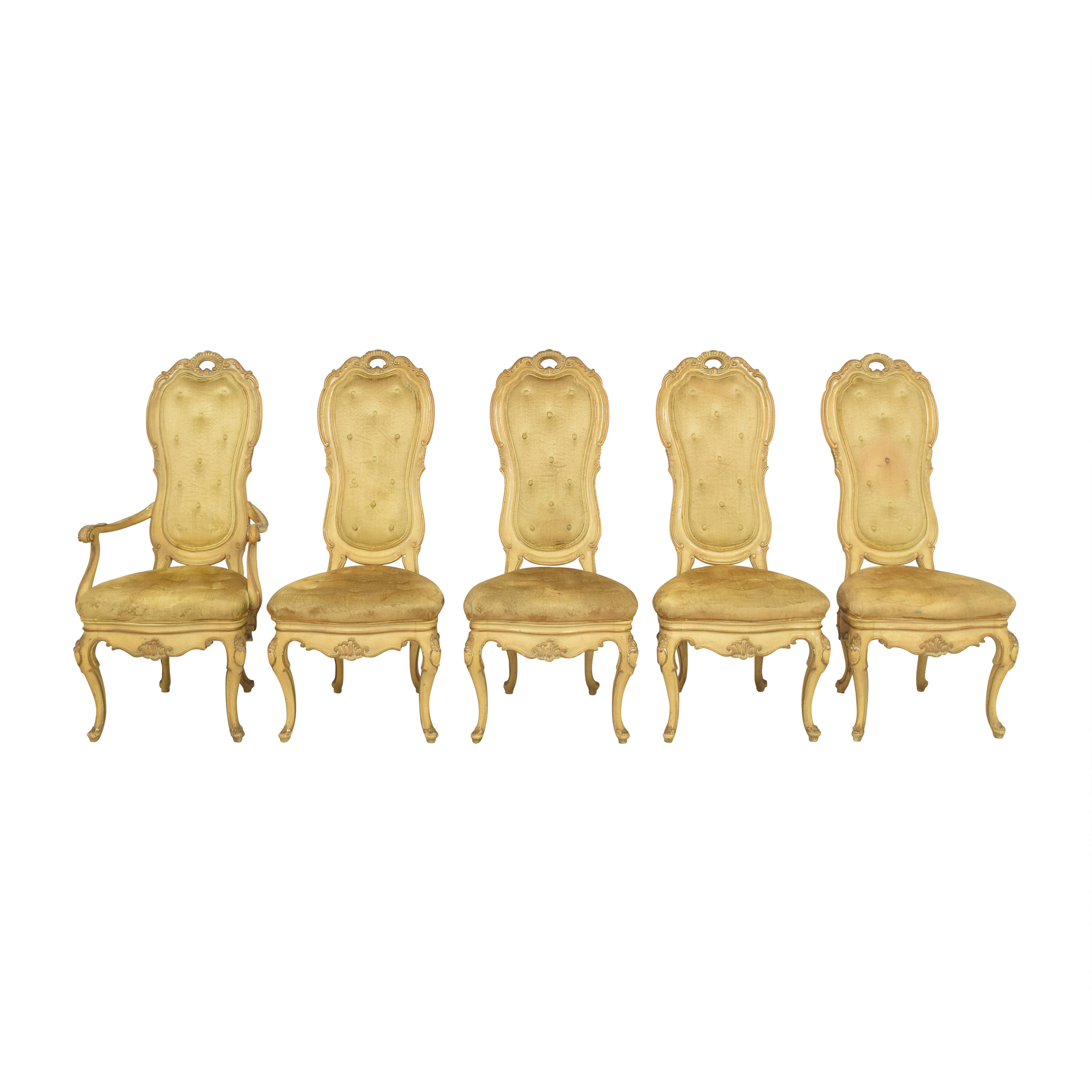 shop Vintage Carved High Back Dining Chairs  Chairs