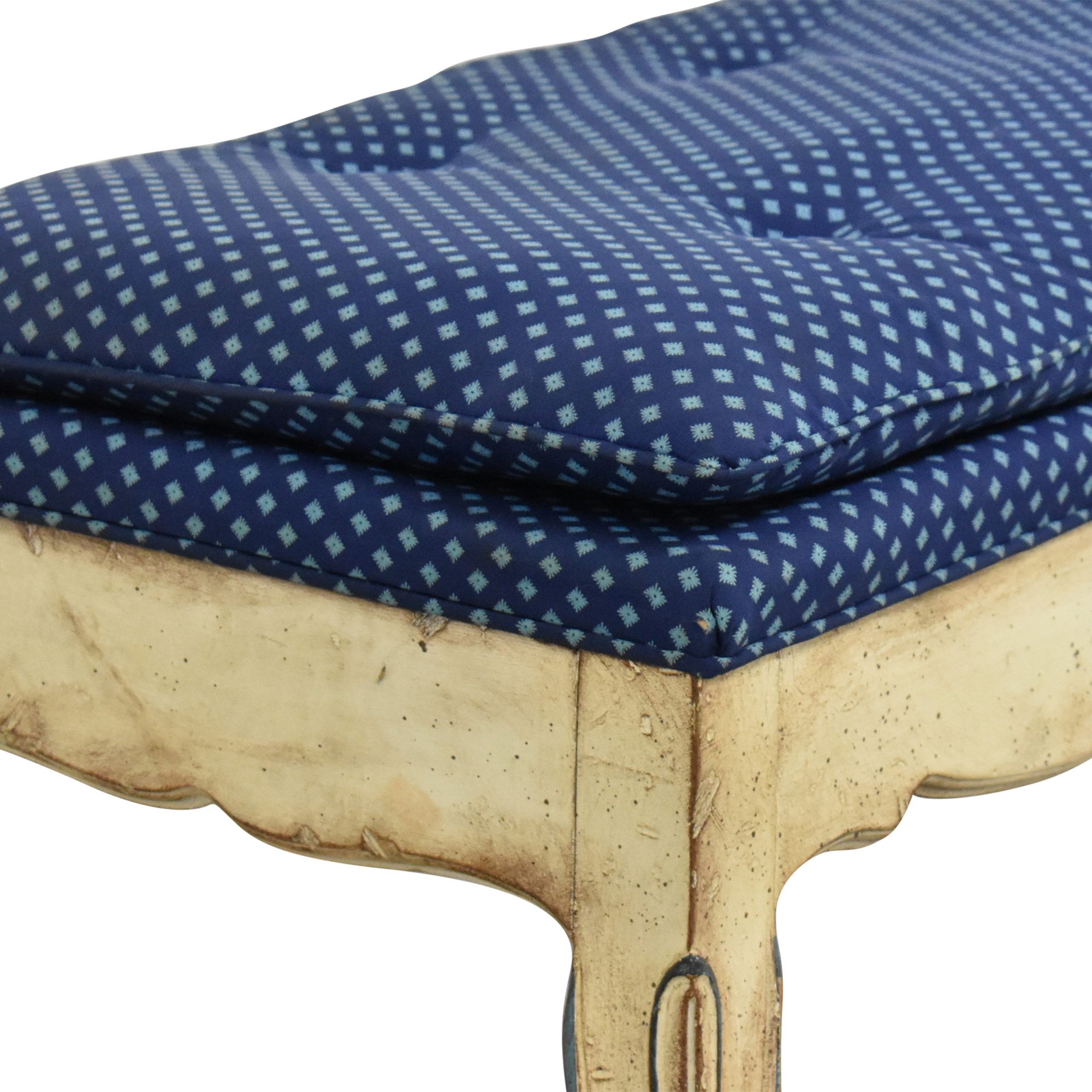 Vintage Style Tufted Bench for sale