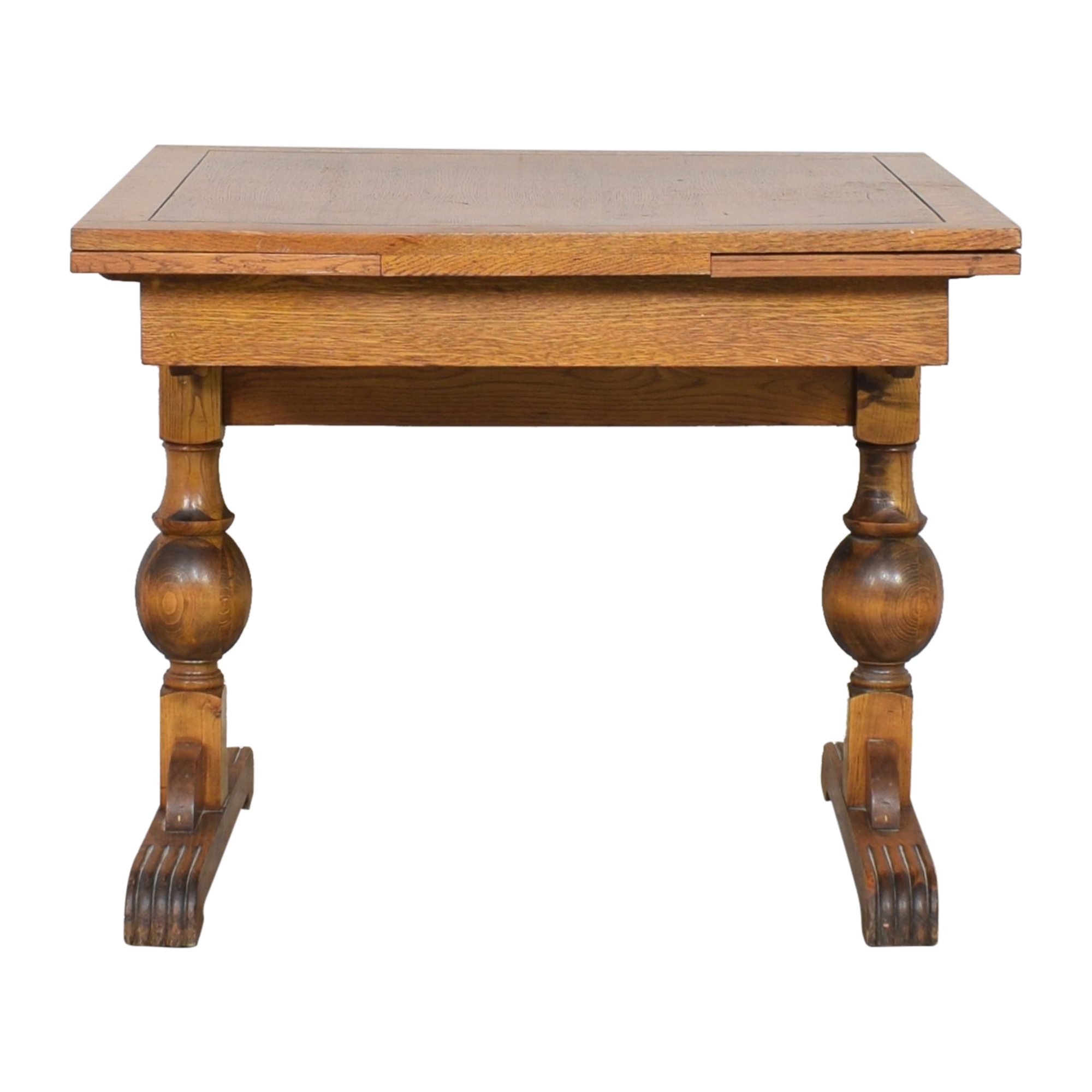 Antique Extendable Library Table ma
