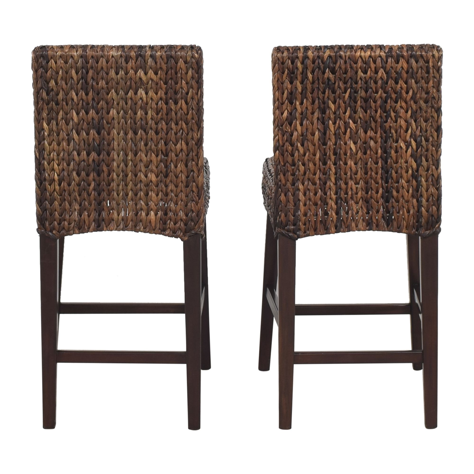 Pottery Barn Seagrass Counter Stools sale
