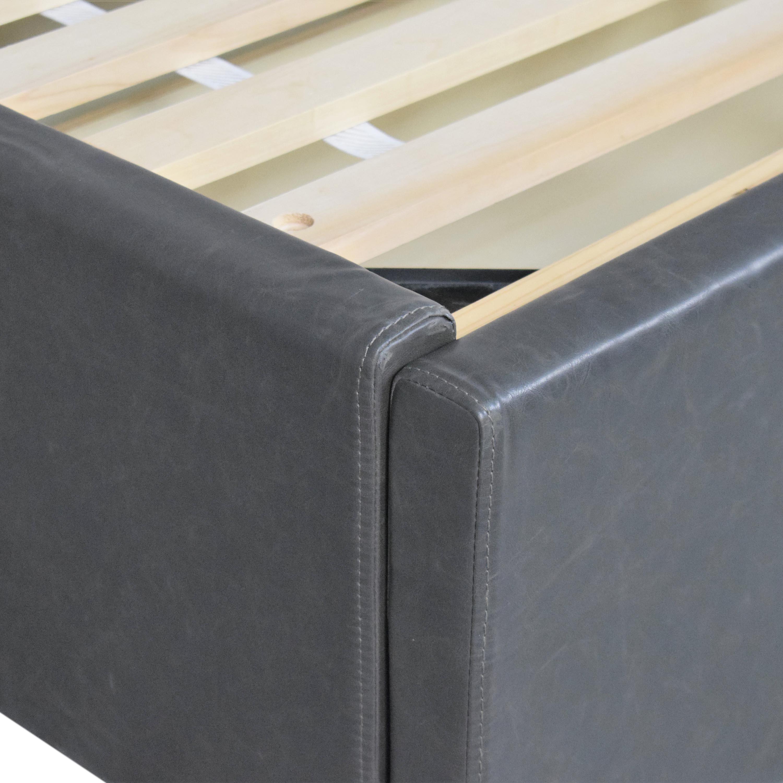 buy Crate & Barrel Queen Upholstered Storage Bed Crate & Barrel Bed Frames