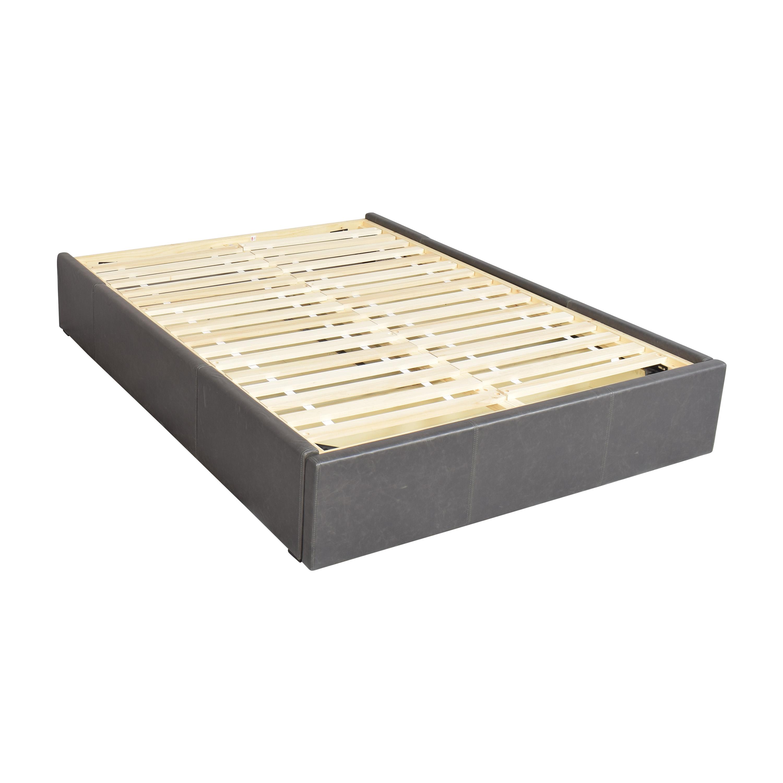 Crate & Barrel Crate & Barrel Queen Upholstered Storage Bed price