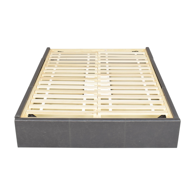 Crate & Barrel Queen Upholstered Storage Bed sale