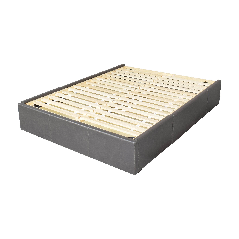 Crate & Barrel Crate & Barrel Queen Upholstered Storage Bed on sale