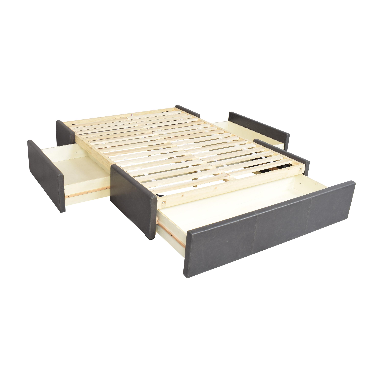 shop Crate & Barrel Queen Upholstered Storage Bed Crate & Barrel