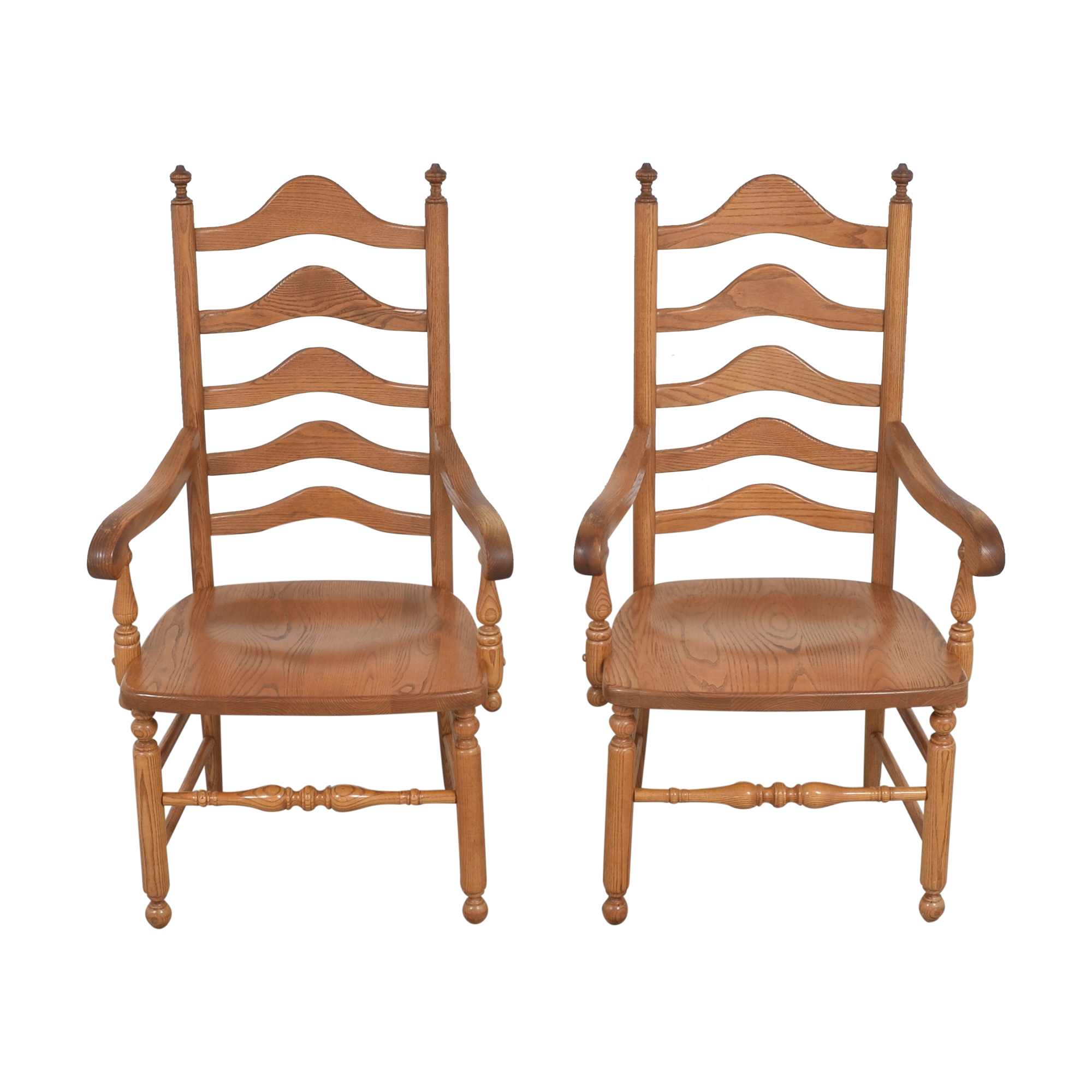 S. Bent & Bros S. Bent & Bros Ladder Back Dining Arm Chairs ma