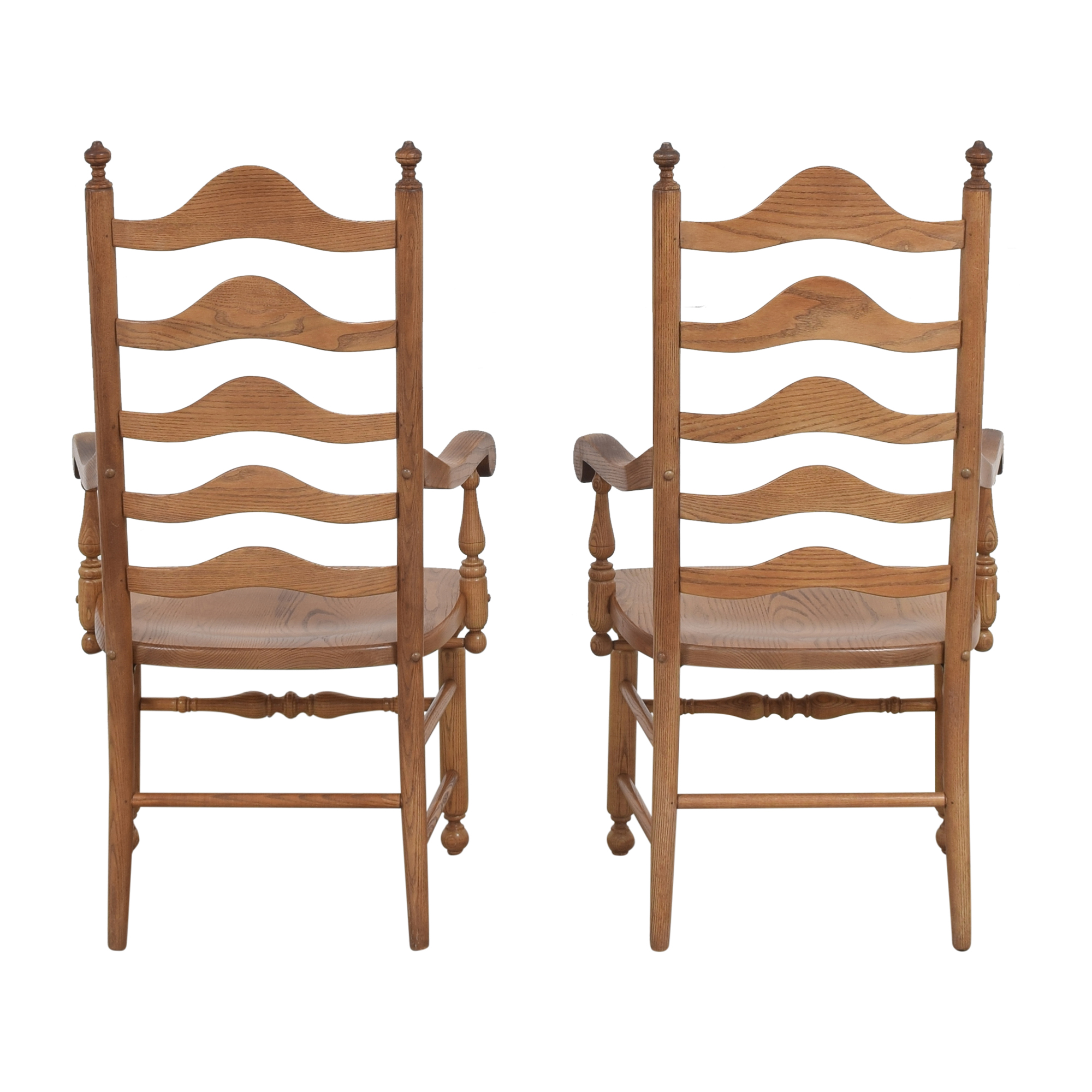S. Bent & Bros S. Bent & Bros Ladder Back Dining Arm Chairs second hand
