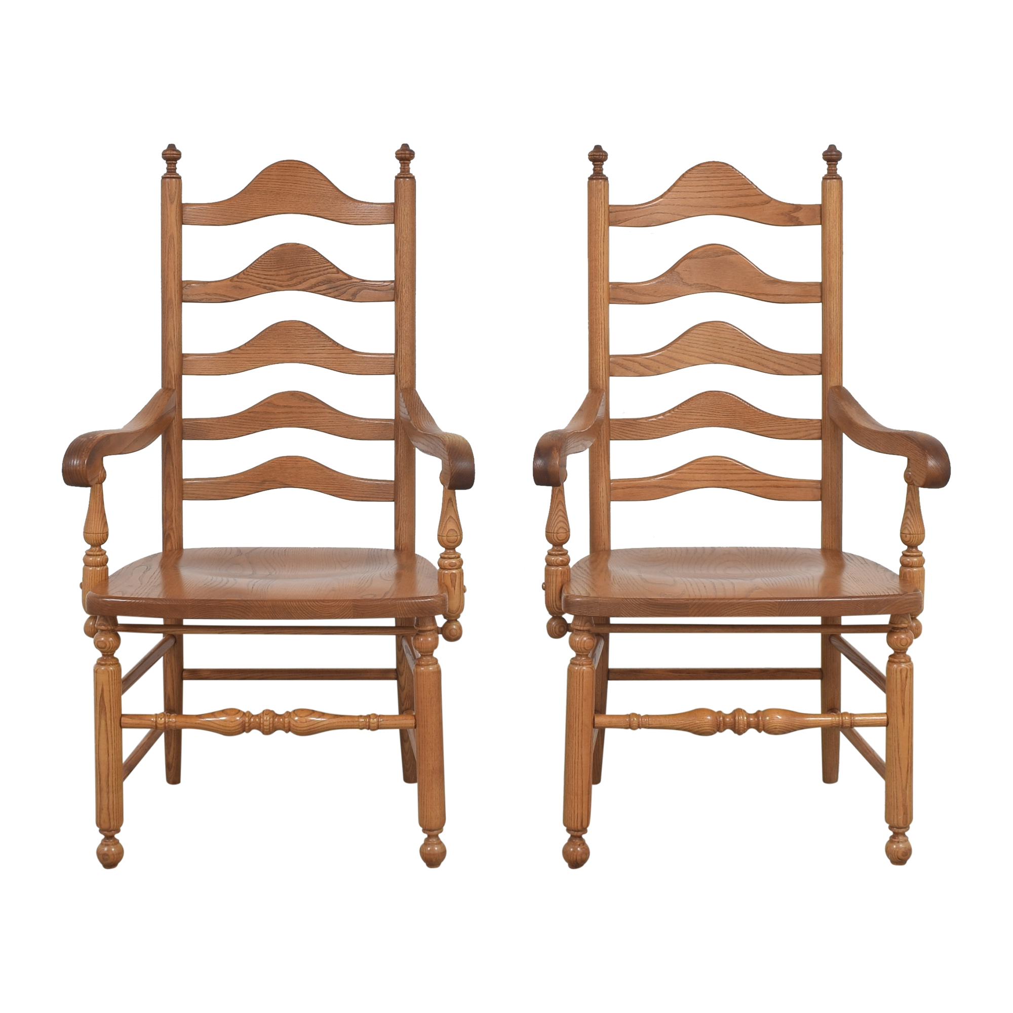 S. Bent & Bros S. Bent & Bros Ladder Back Dining Arm Chairs Dining Chairs