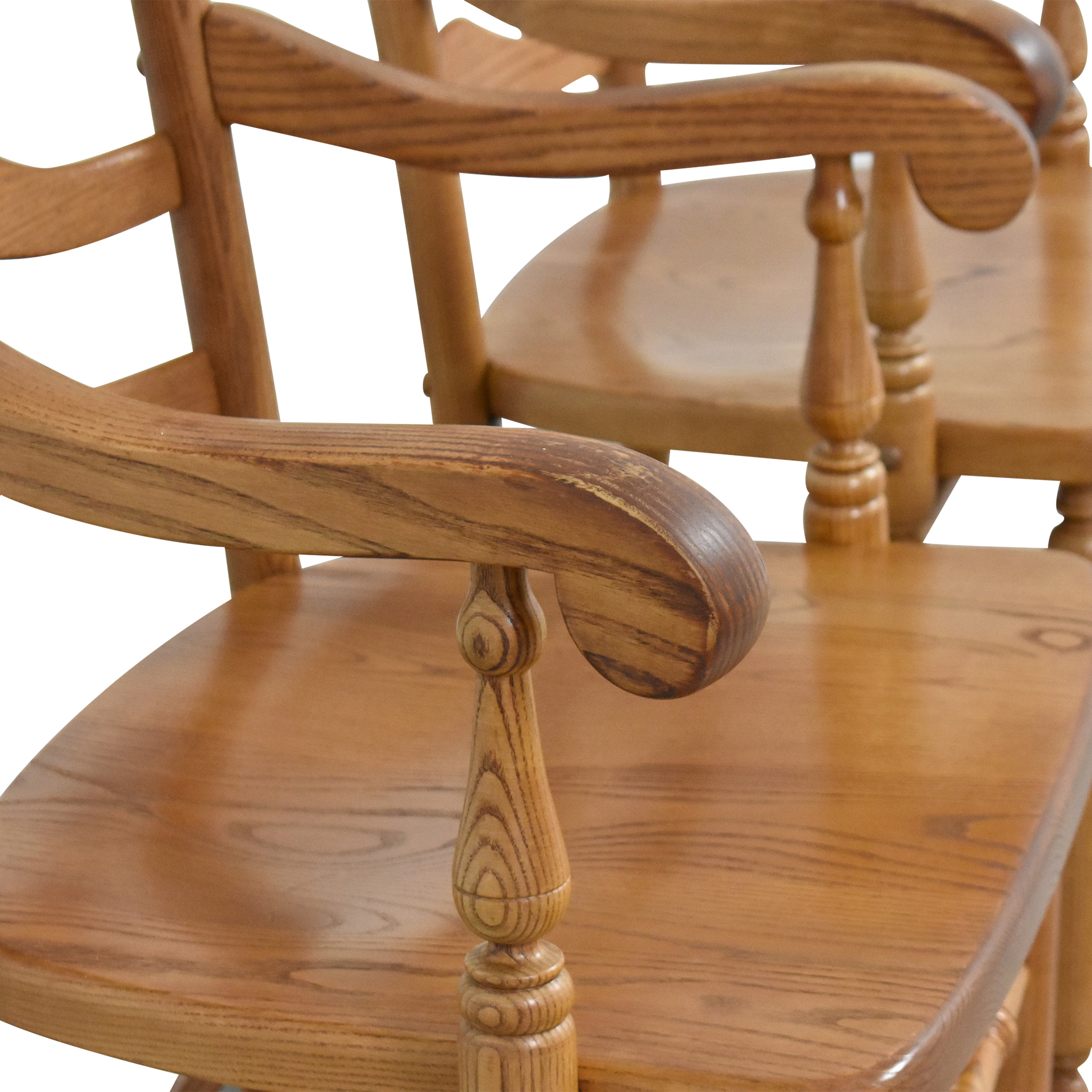 S. Bent & Bros S. Bent & Bros Ladder Back Dining Arm Chairs dimensions