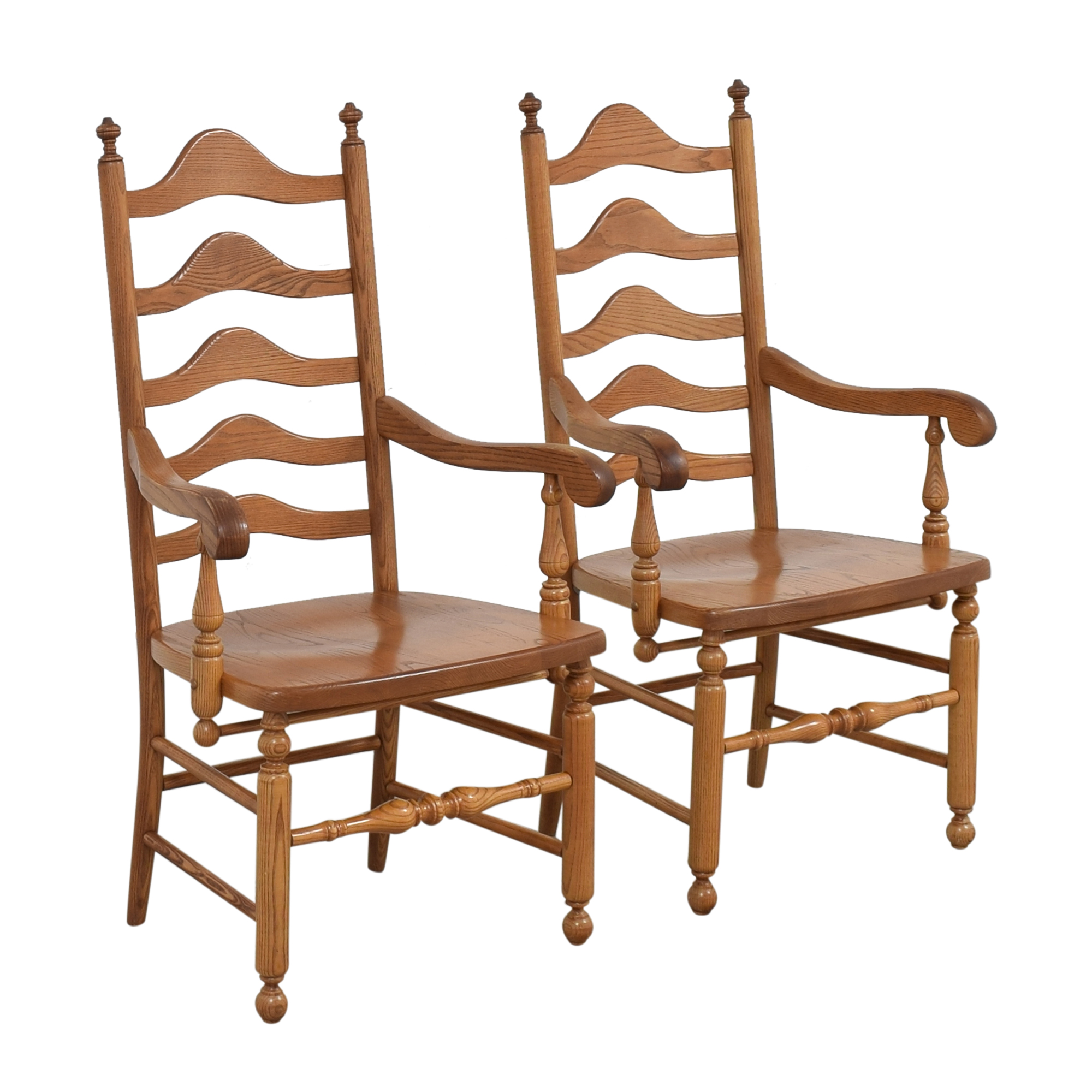 S. Bent & Bros S. Bent & Bros Ladder Back Dining Arm Chairs on sale