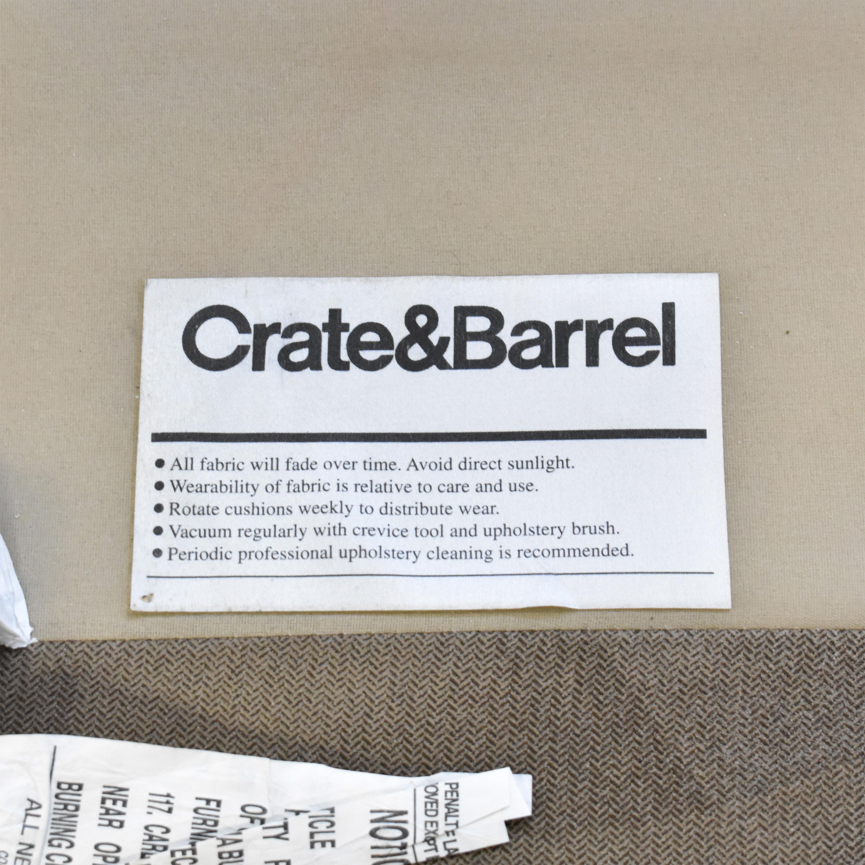 Crate & Barrel Crate & Barrel Axis II Chaise Sectional Sofa nj