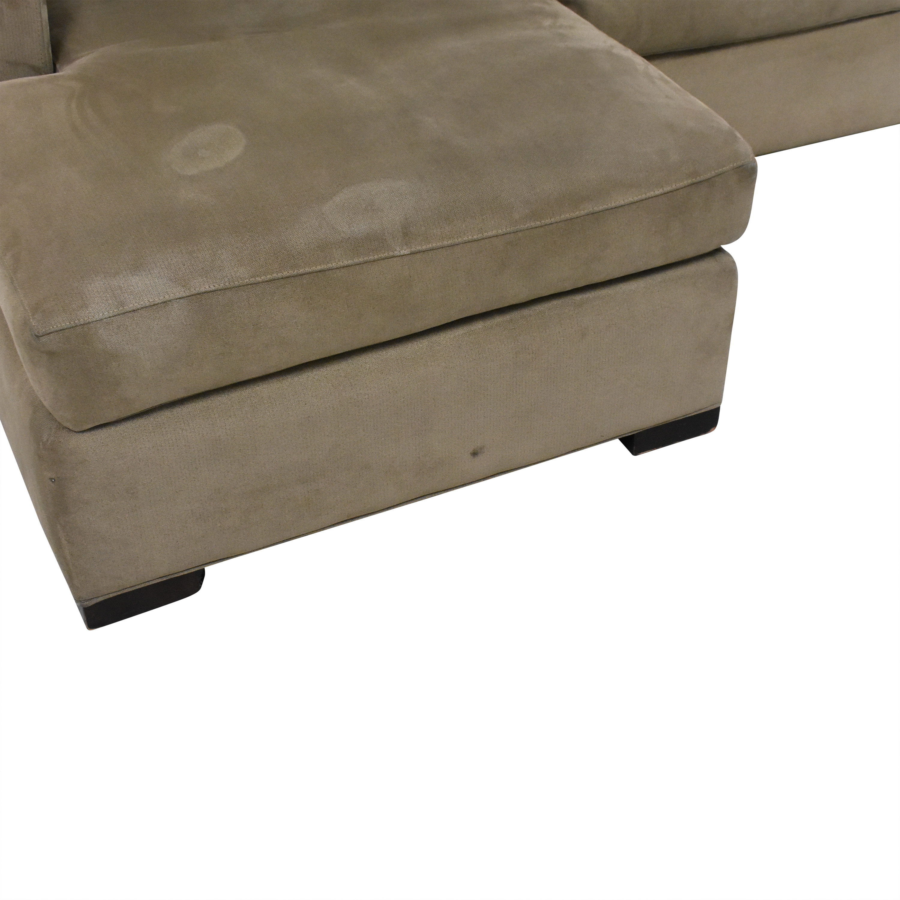 Crate & Barrel Crate & Barrel Axis II Chaise Sectional Sofa discount