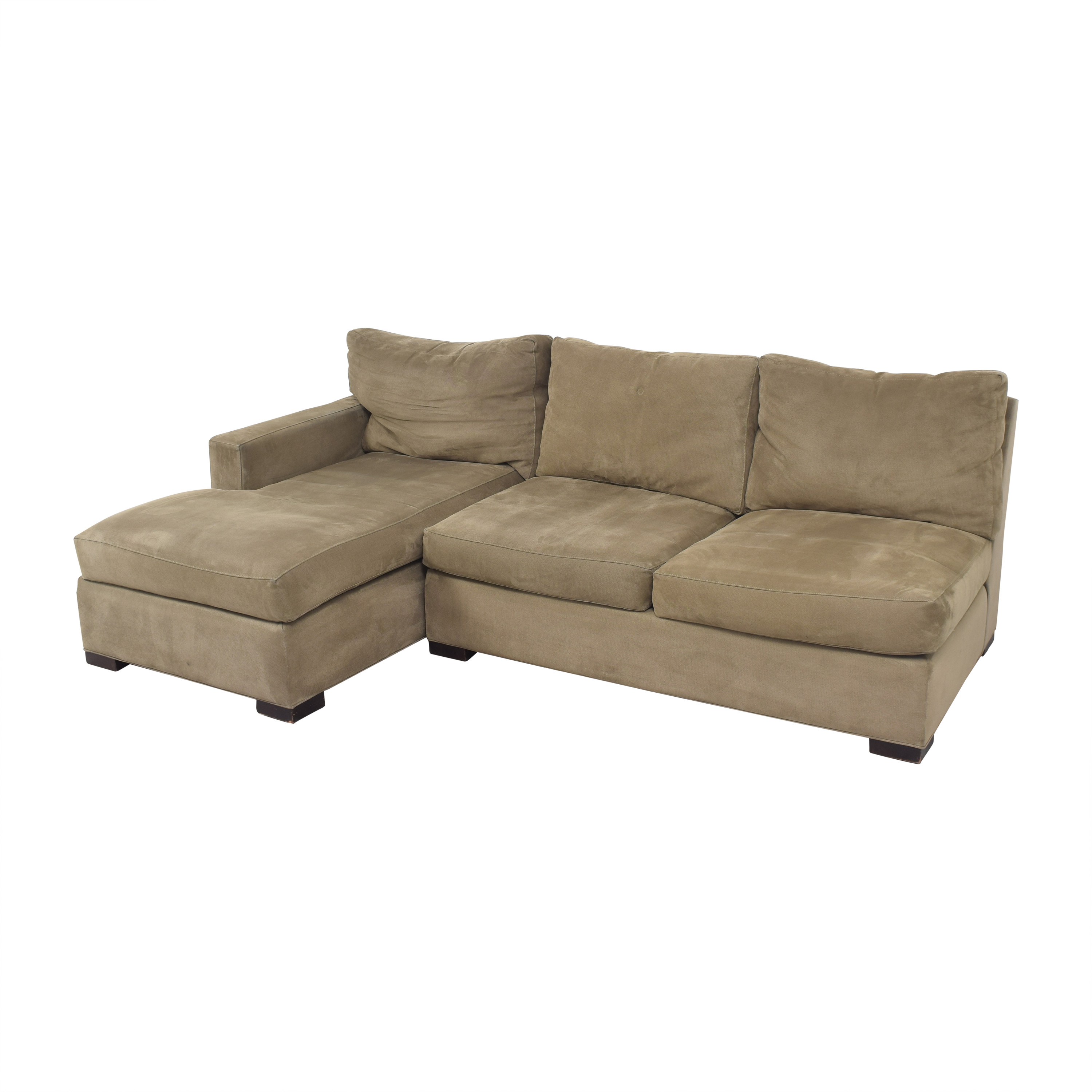 Crate & Barrel Crate & Barrel Axis II Chaise Sectional Sofa on sale