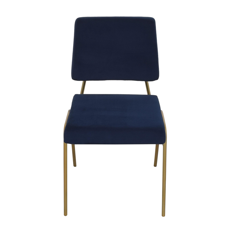 West Elm West Elm Wire Frame Upholstered Dining Chair nj