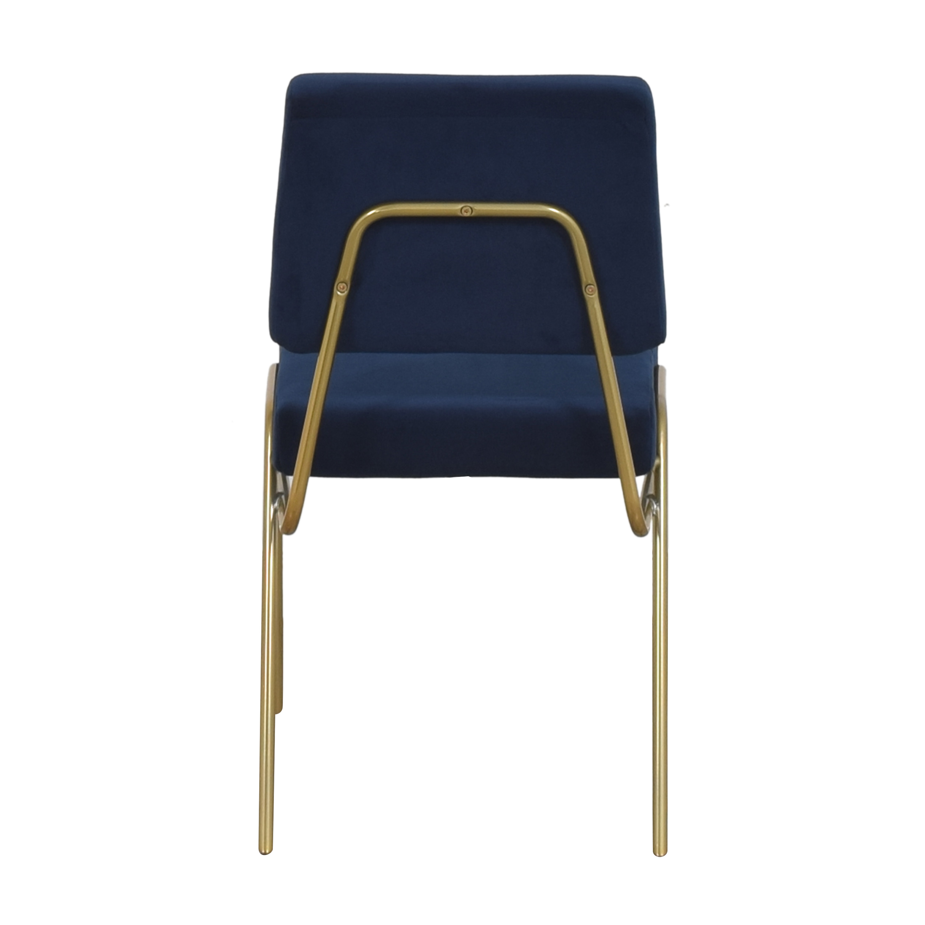 West Elm West Elm Wire Frame Upholstered Dining Chair blue