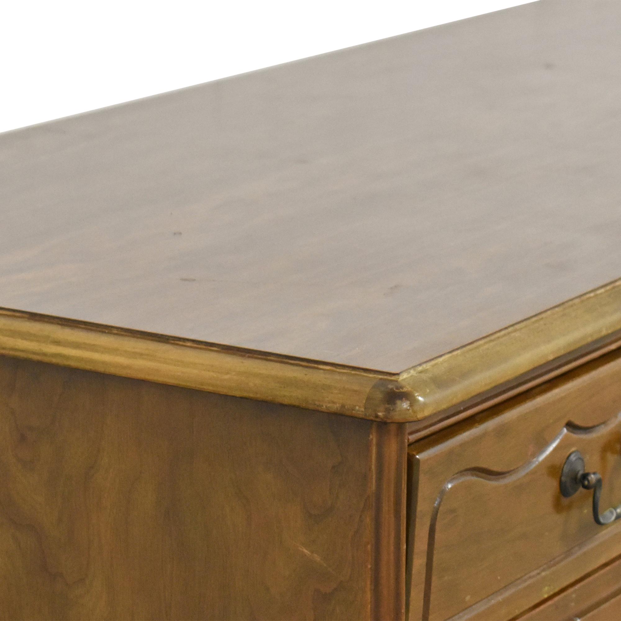 Vintage Two Pedestal Home Office Desk ct