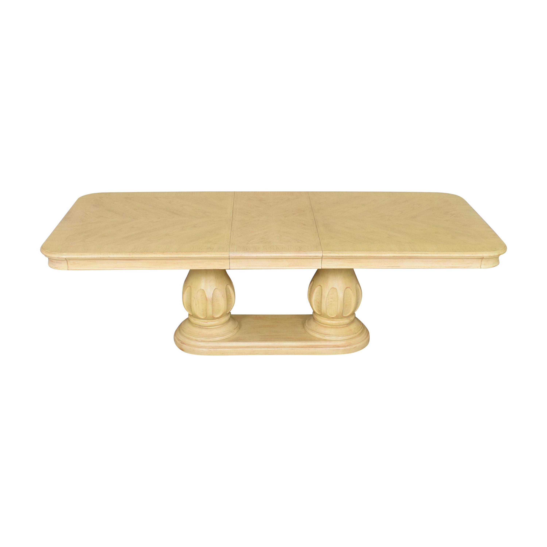 Bernhardt Bernhardt Extendable Double Pedestal Dining Table nj