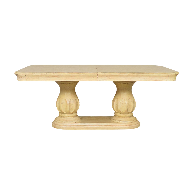 Bernhardt Extendable Double Pedestal Dining Table sale