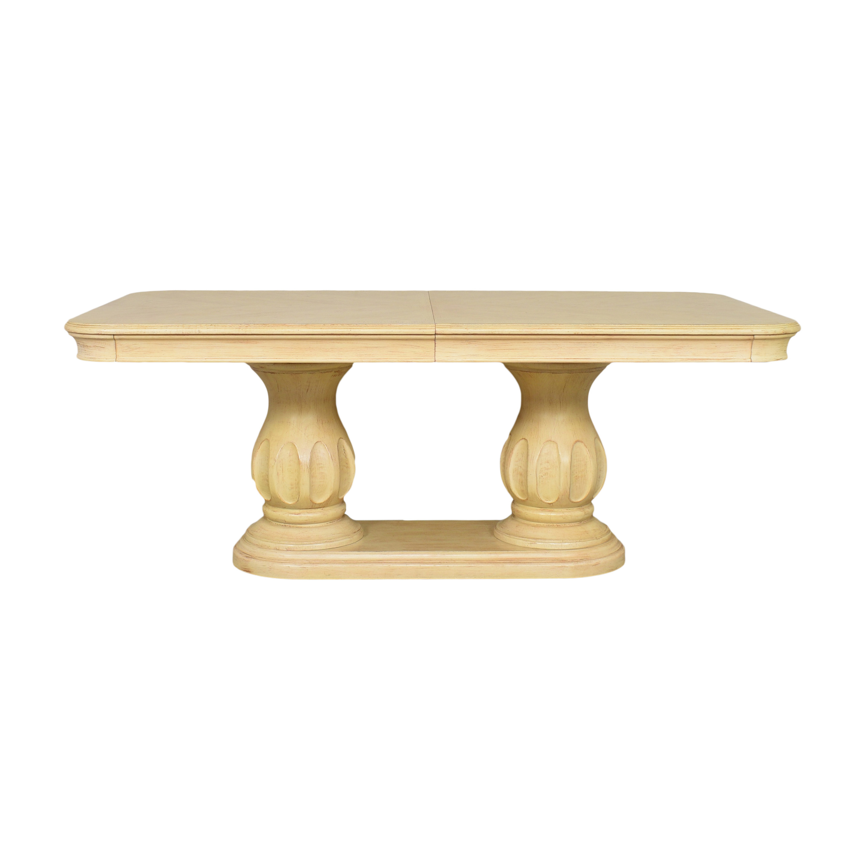 Bernhardt Bernhardt Extendable Double Pedestal Dining Table natural