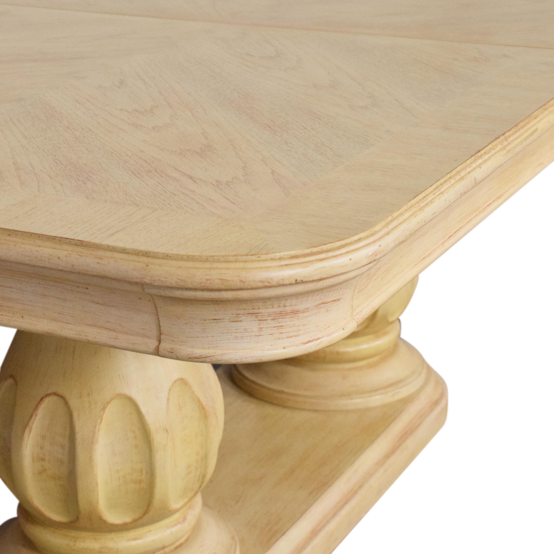 shop Bernhardt Extendable Double Pedestal Dining Table Bernhardt Tables