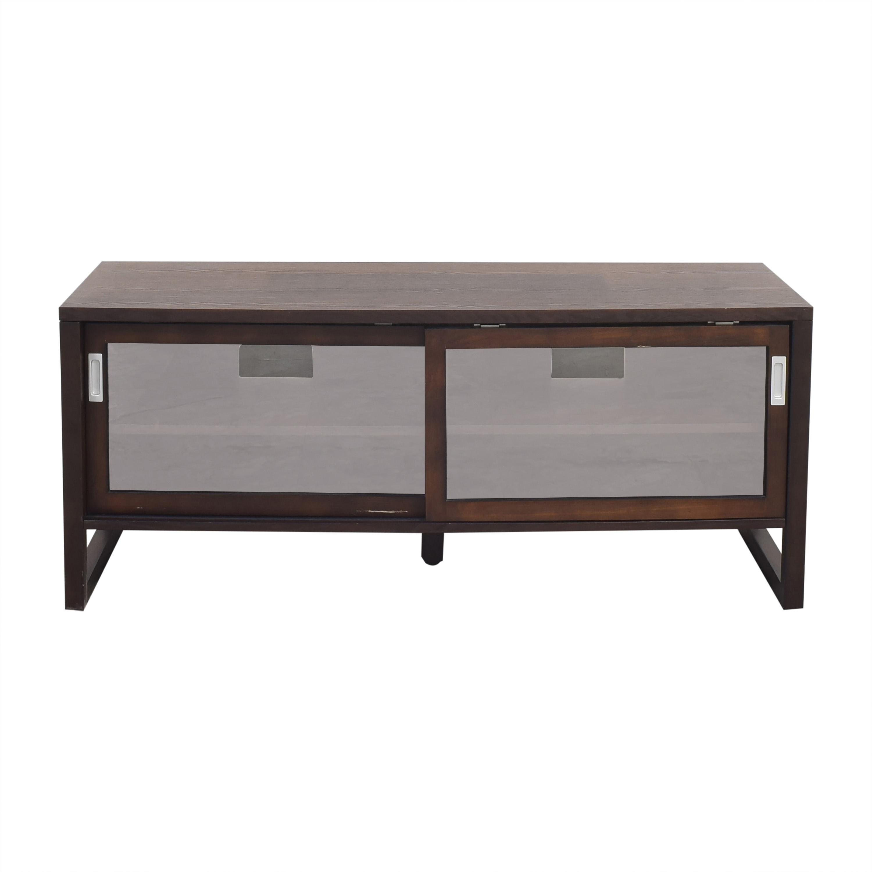 Crate & Barrel Crate & Barrel Sliding Door Media Console pa
