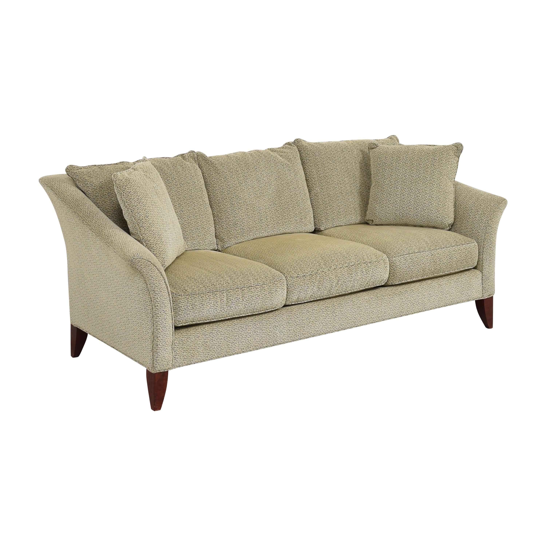 Maurice Villency Maurice Villency Three Cushion Upholstered Sofa tan