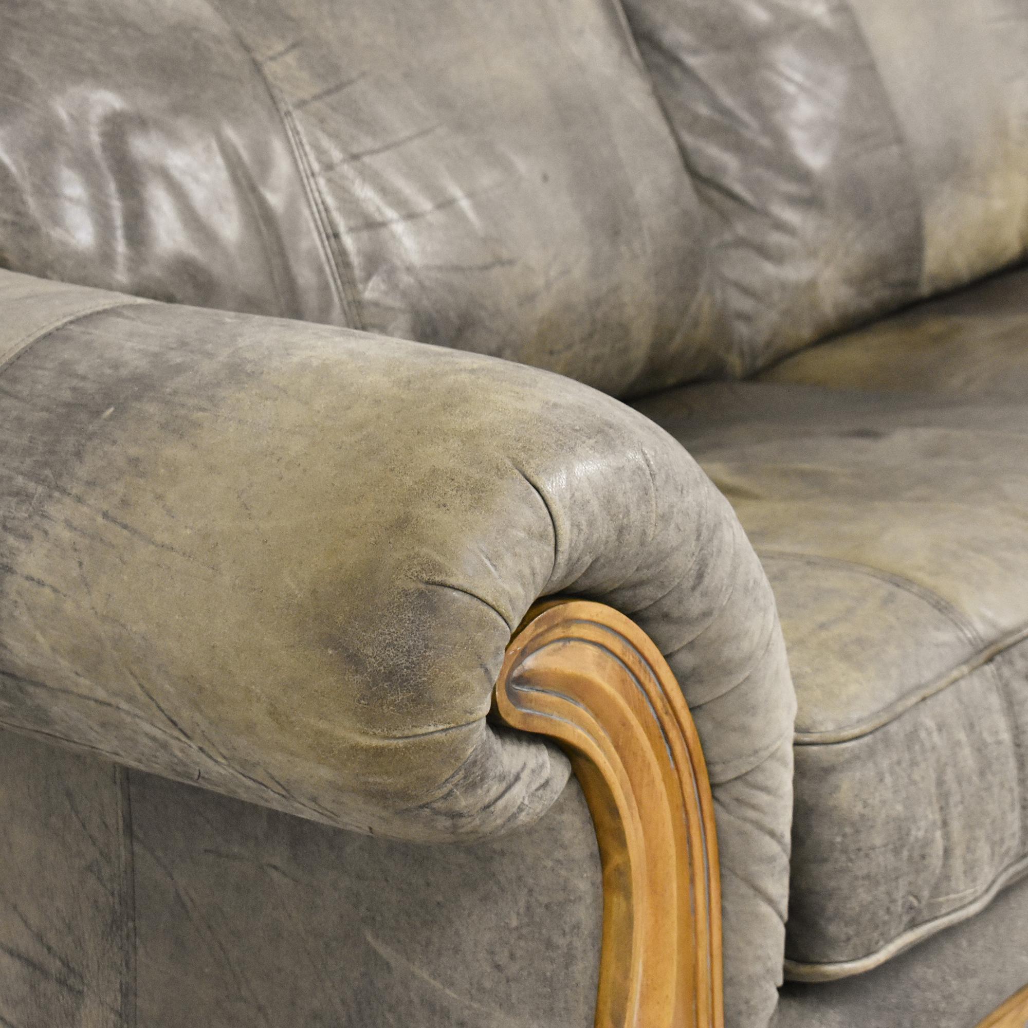 Flexsteel Flexsteel Sahara Retreat Two Cushion Sofa dimensions
