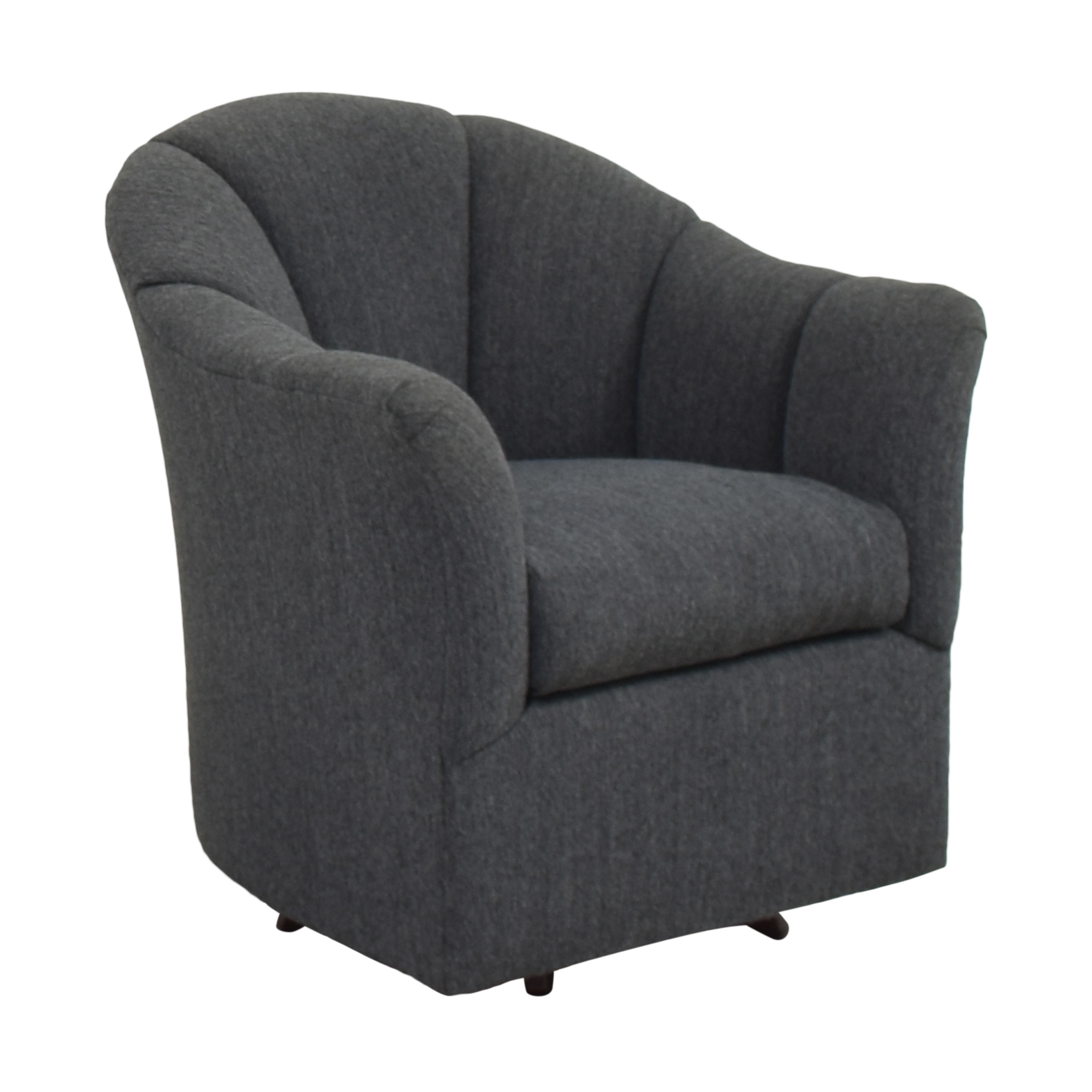 buy Maurice Villency Scalloped Swivel Chair  Maurice Villency Accent Chairs