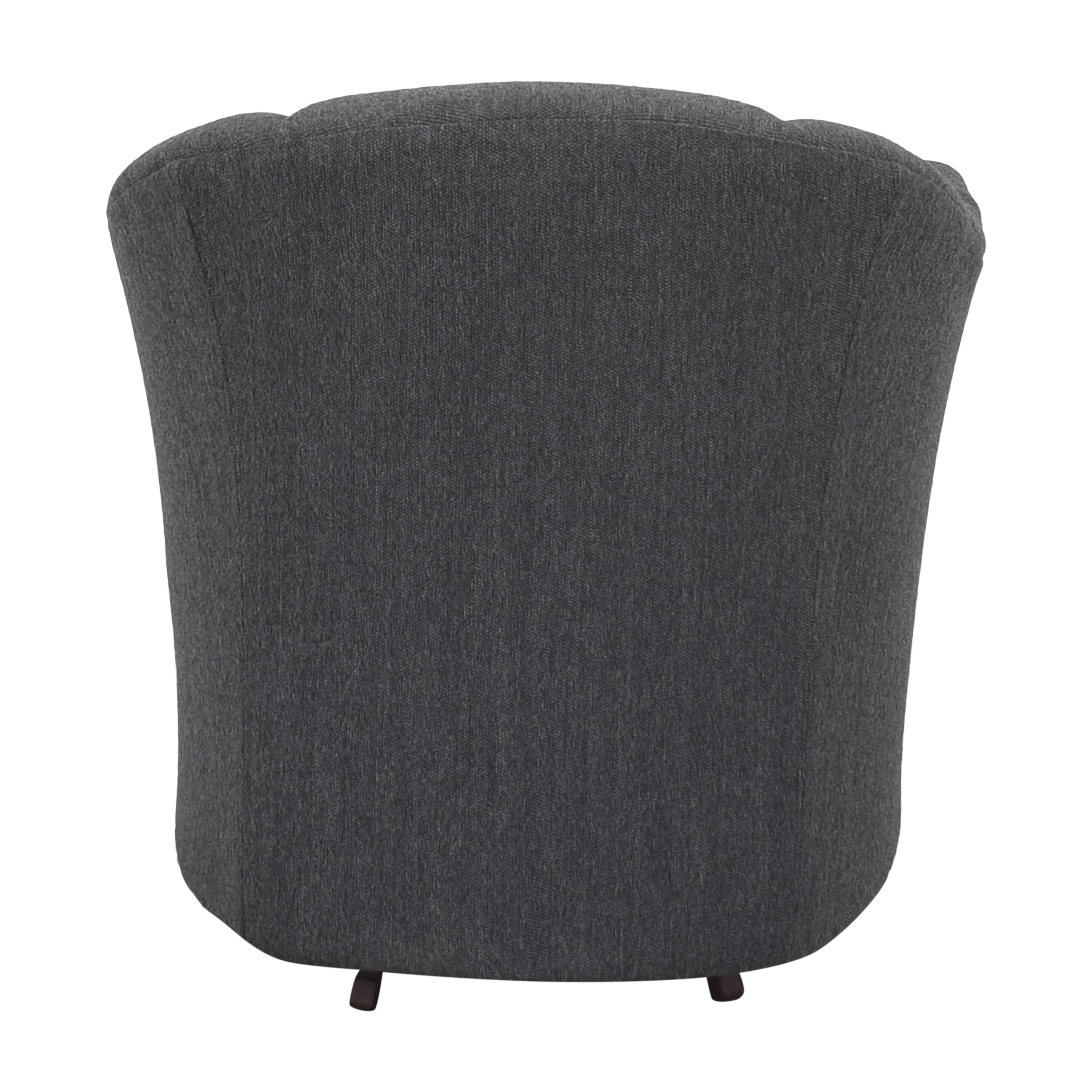 shop Maurice Villency Scalloped Swivel Chair  Maurice Villency Accent Chairs
