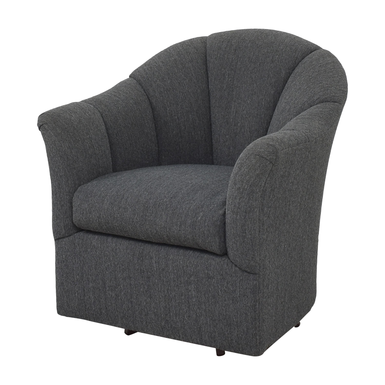 shop Maurice Villency Scalloped Swivel Chair  Maurice Villency Chairs