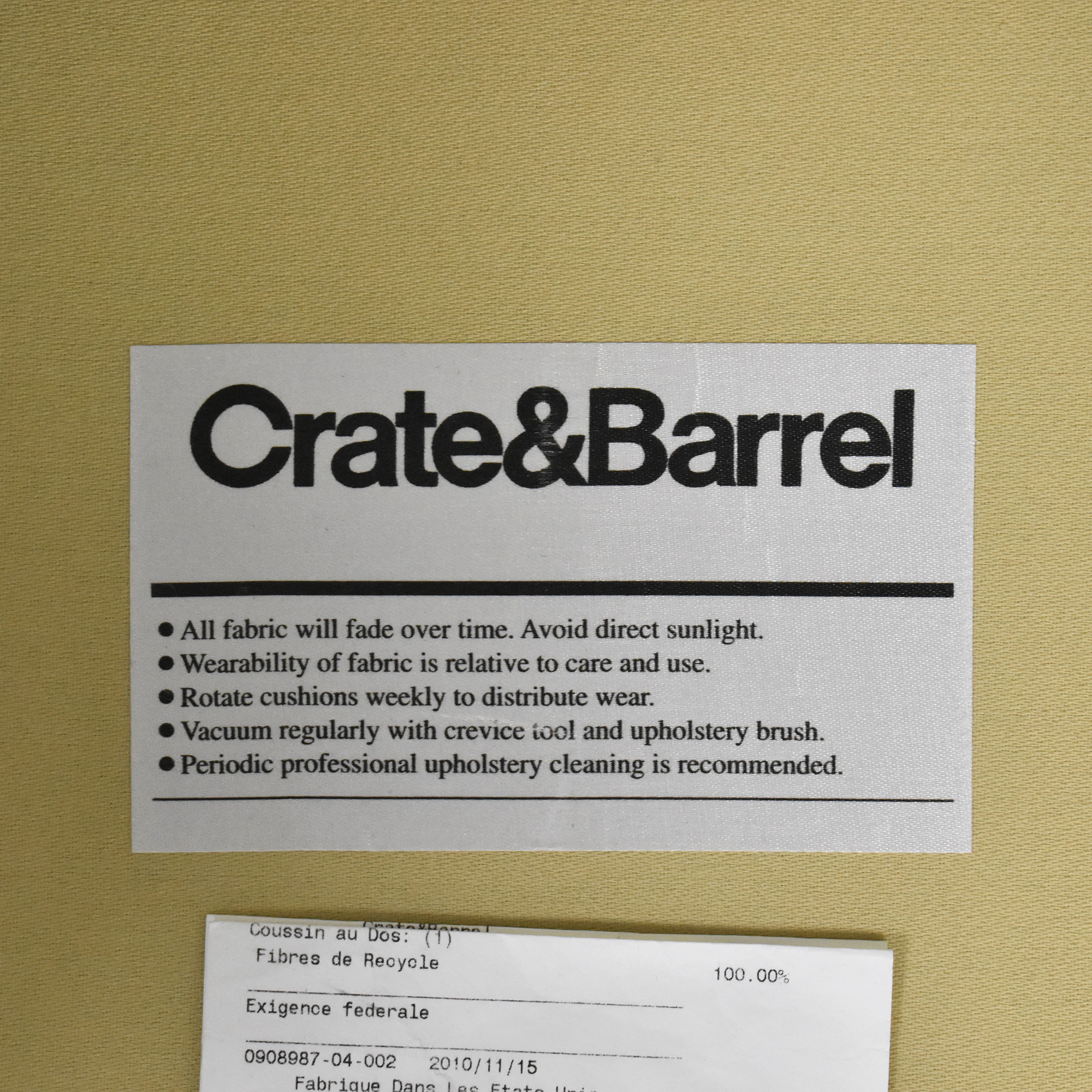 Crate & Barrel Crate & Barrel Upholstered Accent Chair  discount