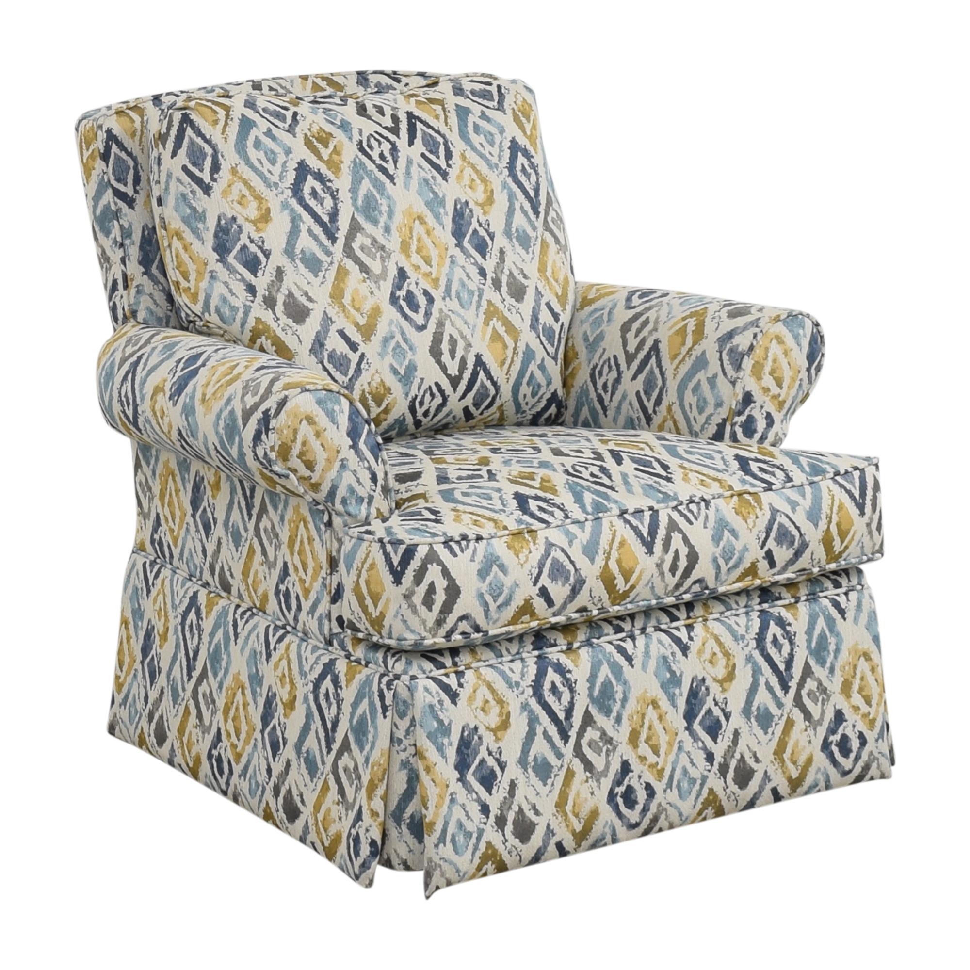 shop Raymour & Flanigan Swivel Accent Chair Raymour & Flanigan