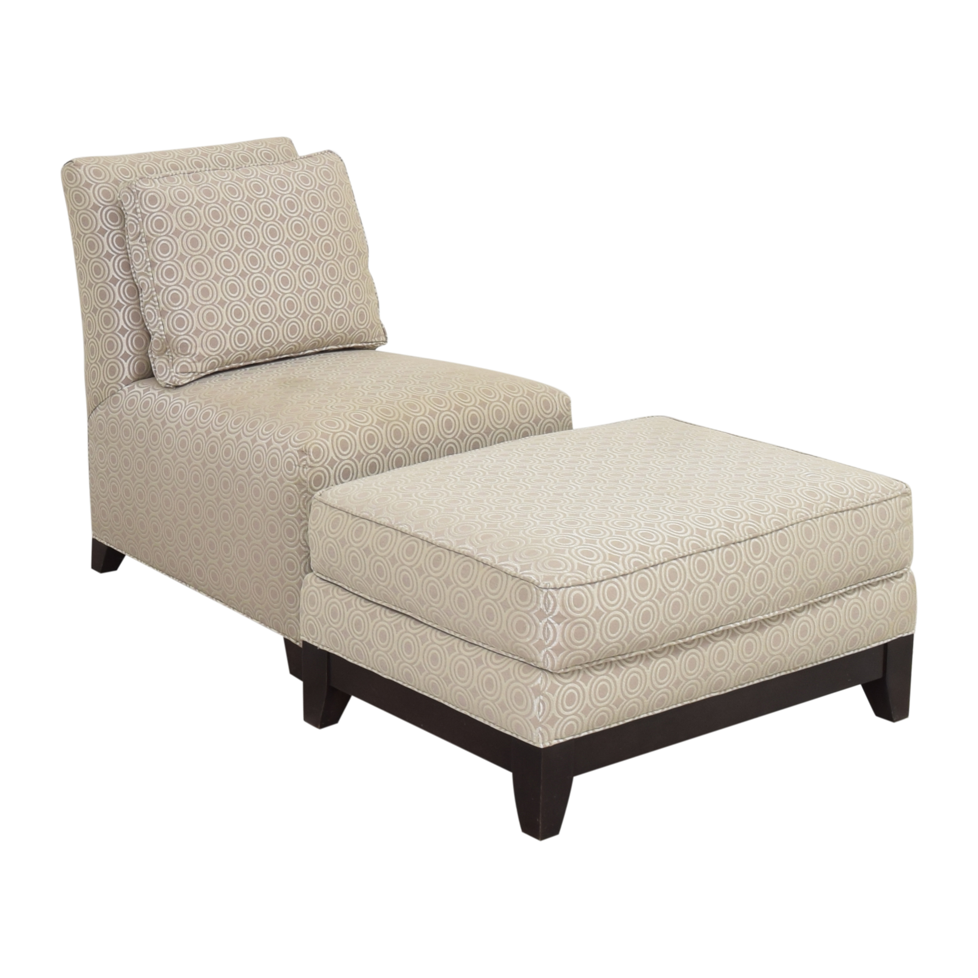 Ethan Allen Ethan Allen Slipper Accent Chair with Ottoman used