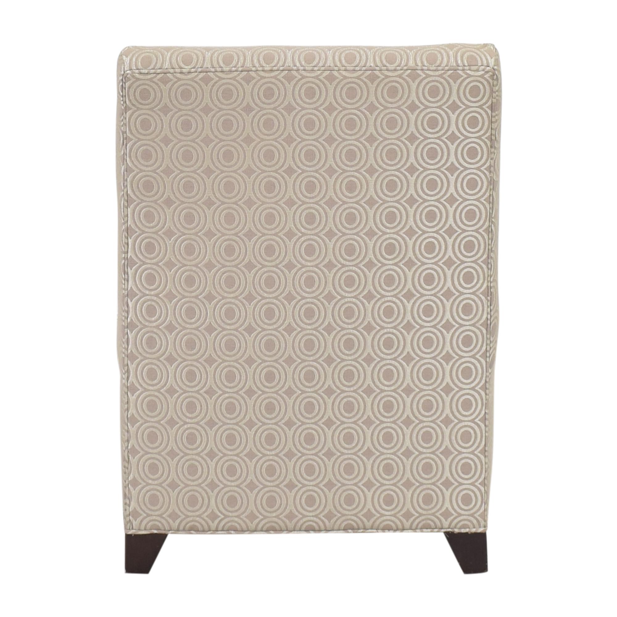 Ethan Allen Ethan Allen Slipper Accent Chair with Ottoman dimensions
