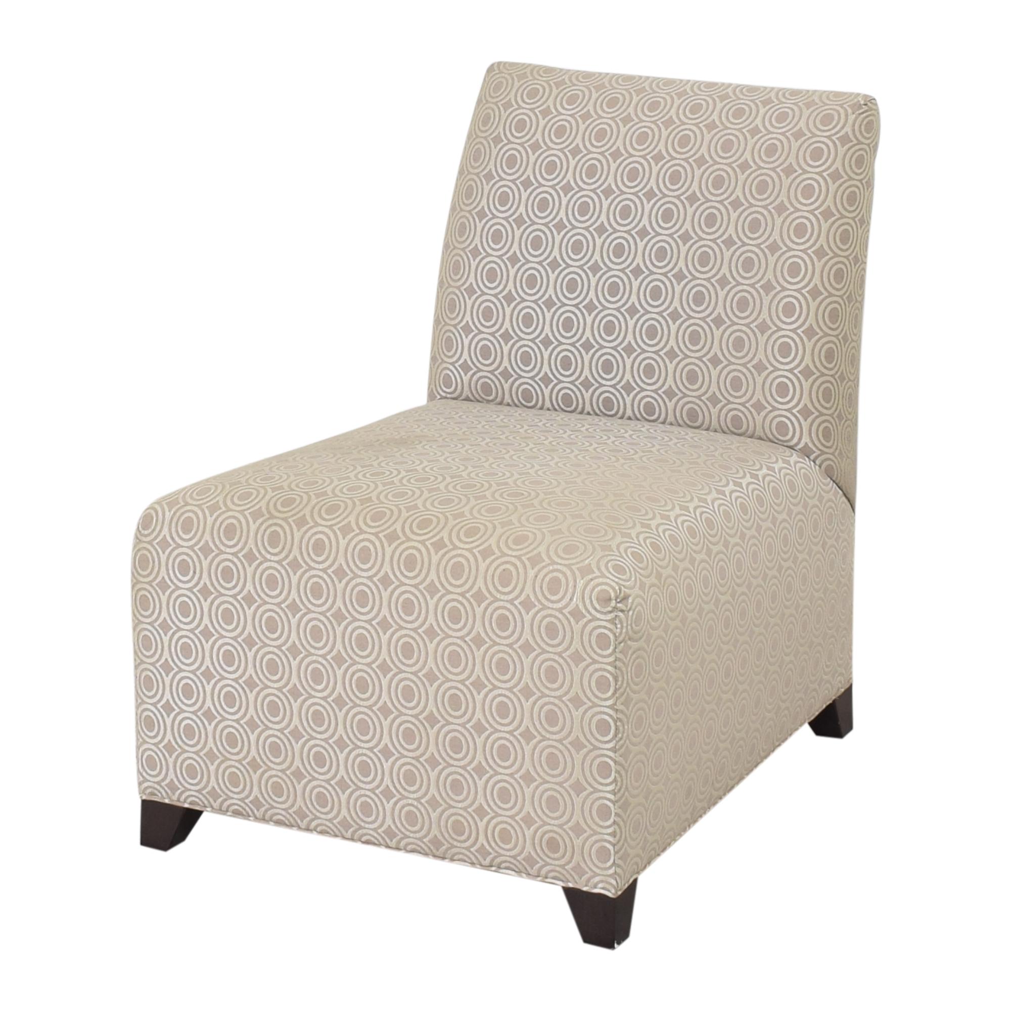 shop Ethan Allen Slipper Accent Chair with Ottoman Ethan Allen Chairs