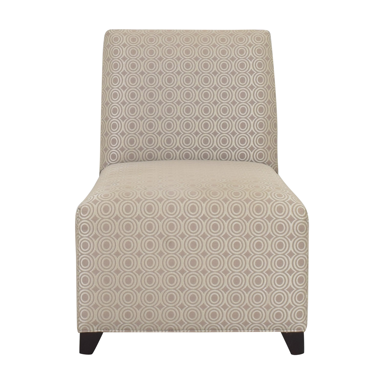 Ethan Allen Ethan Allen Slipper Accent Chair with Ottoman pa