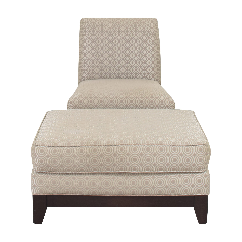 buy Ethan Allen Ethan Allen Slipper Accent Chair with Ottoman online