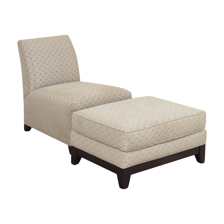 shop Ethan Allen Slipper Accent Chair with Ottoman Ethan Allen