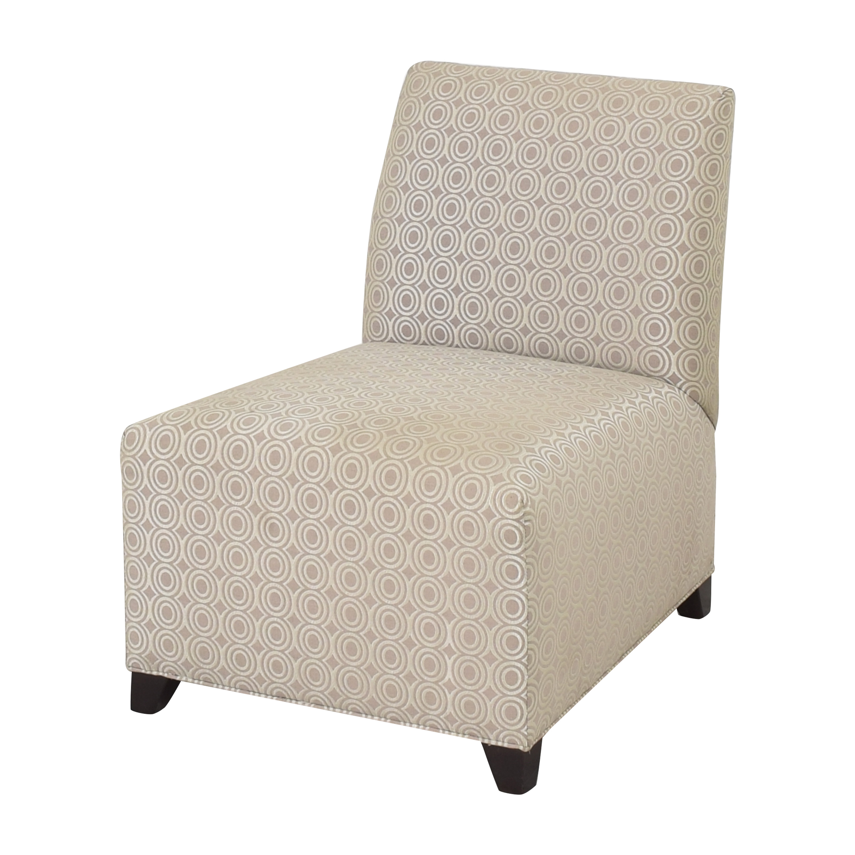 Ethan Allen Slipper Accent Chair with Ottoman / Accent Chairs
