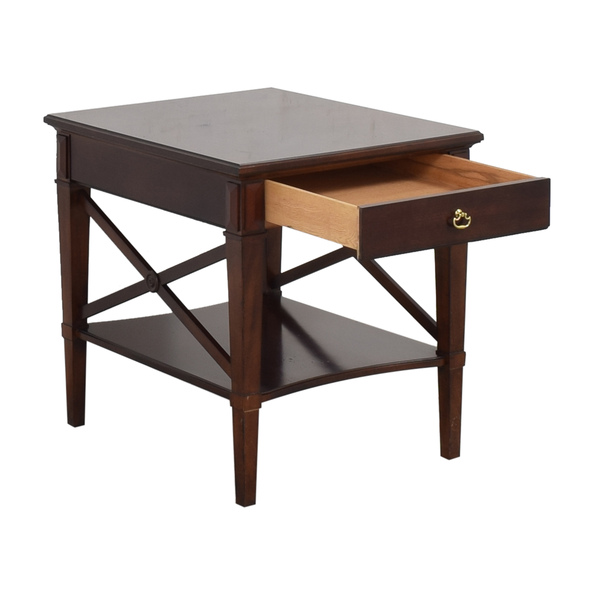shop Hickory Chair One Drawer Side Table Hickory Chair Tables